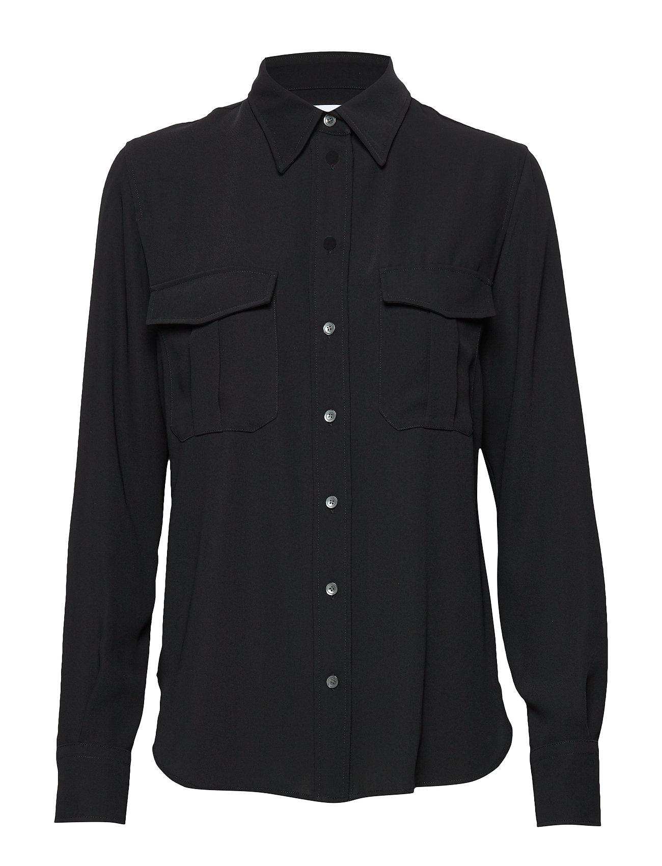 Calvin Klein SMOOTH TWILL POLICE PKT SHIRT - CALVIN BLACK
