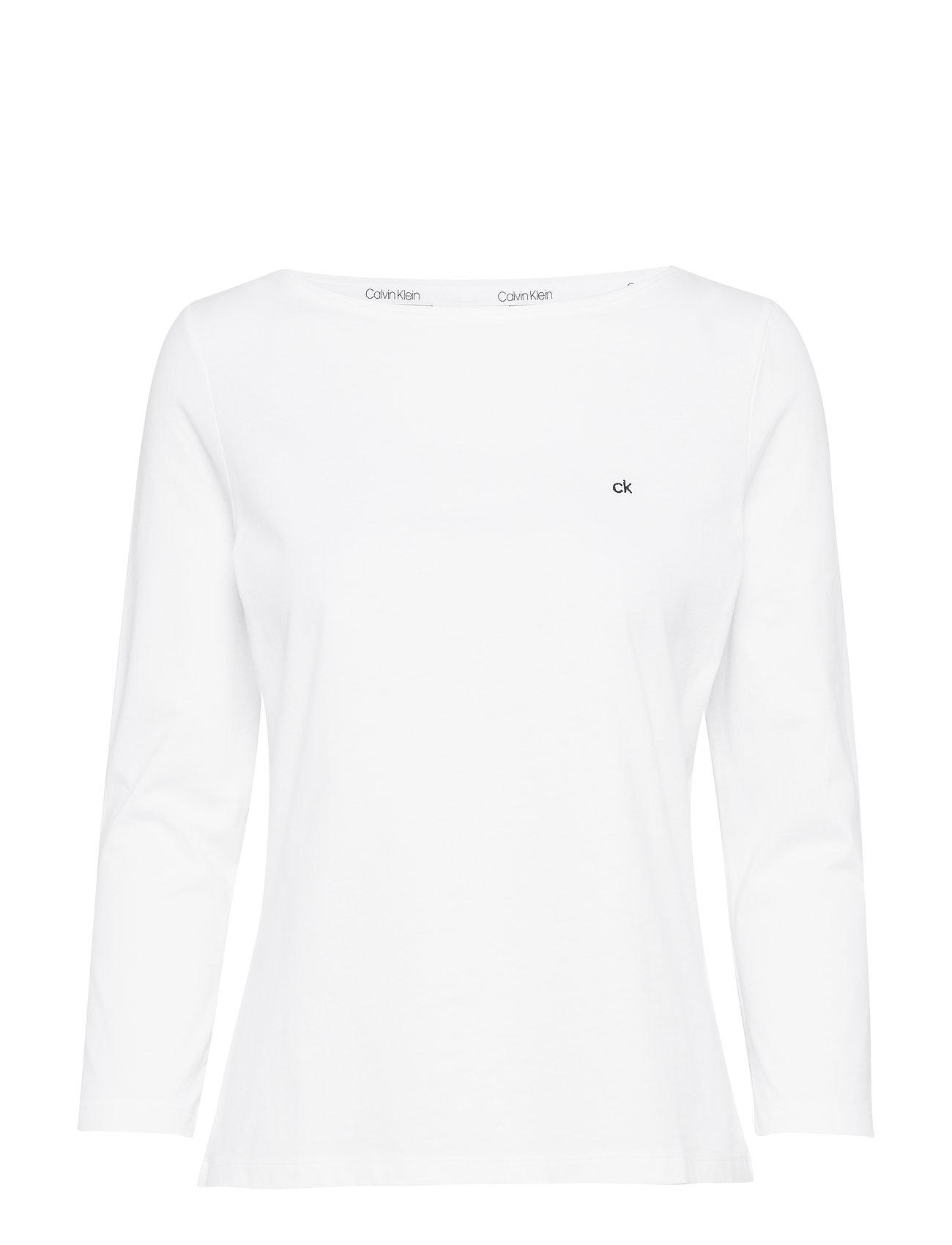Calvin Klein BOAT NECK 3./4 SLV - CALVIN WHITE