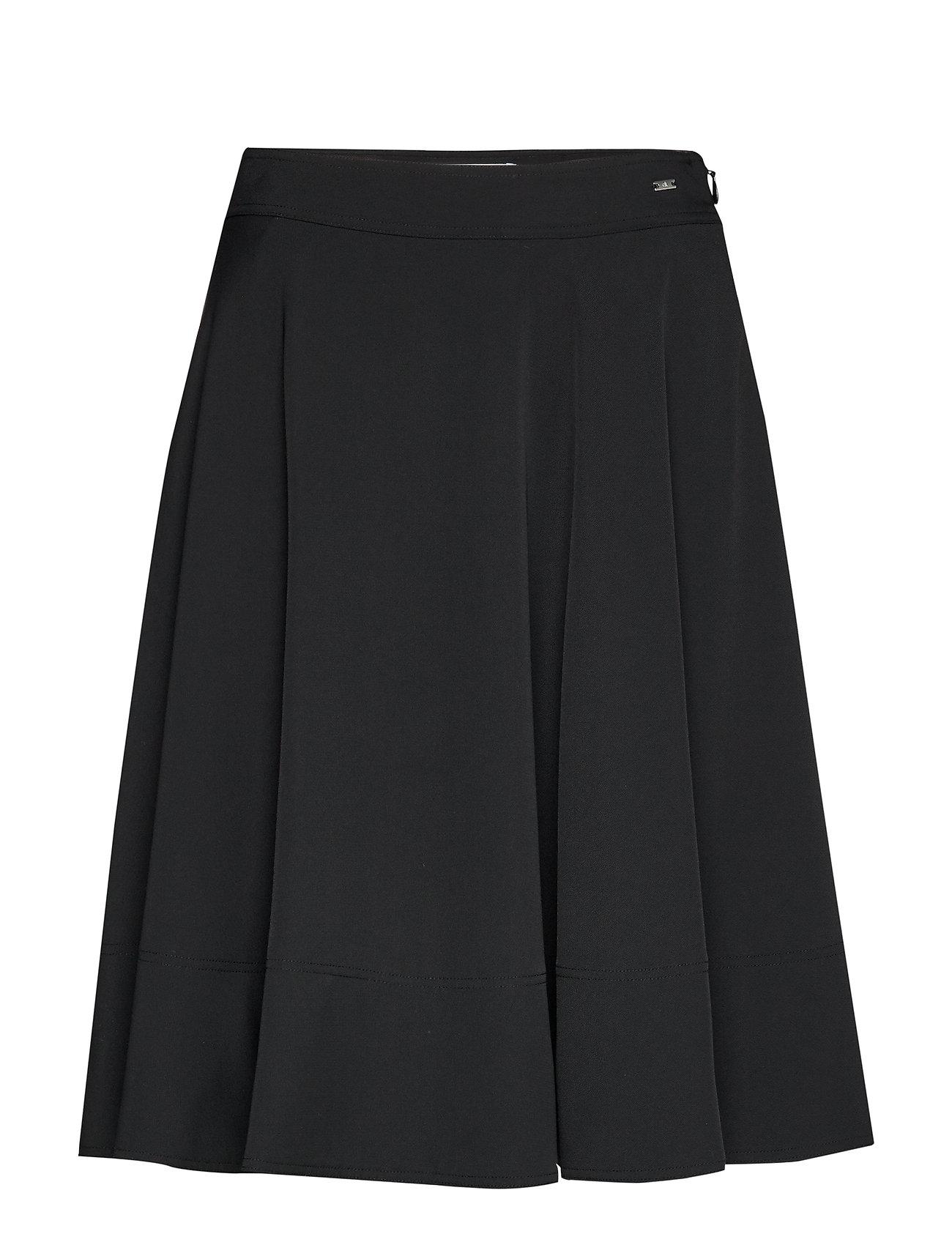 Calvin Klein SMOOTH TWILL HALF CIRCLE SKIRT - CALVIN BLACK
