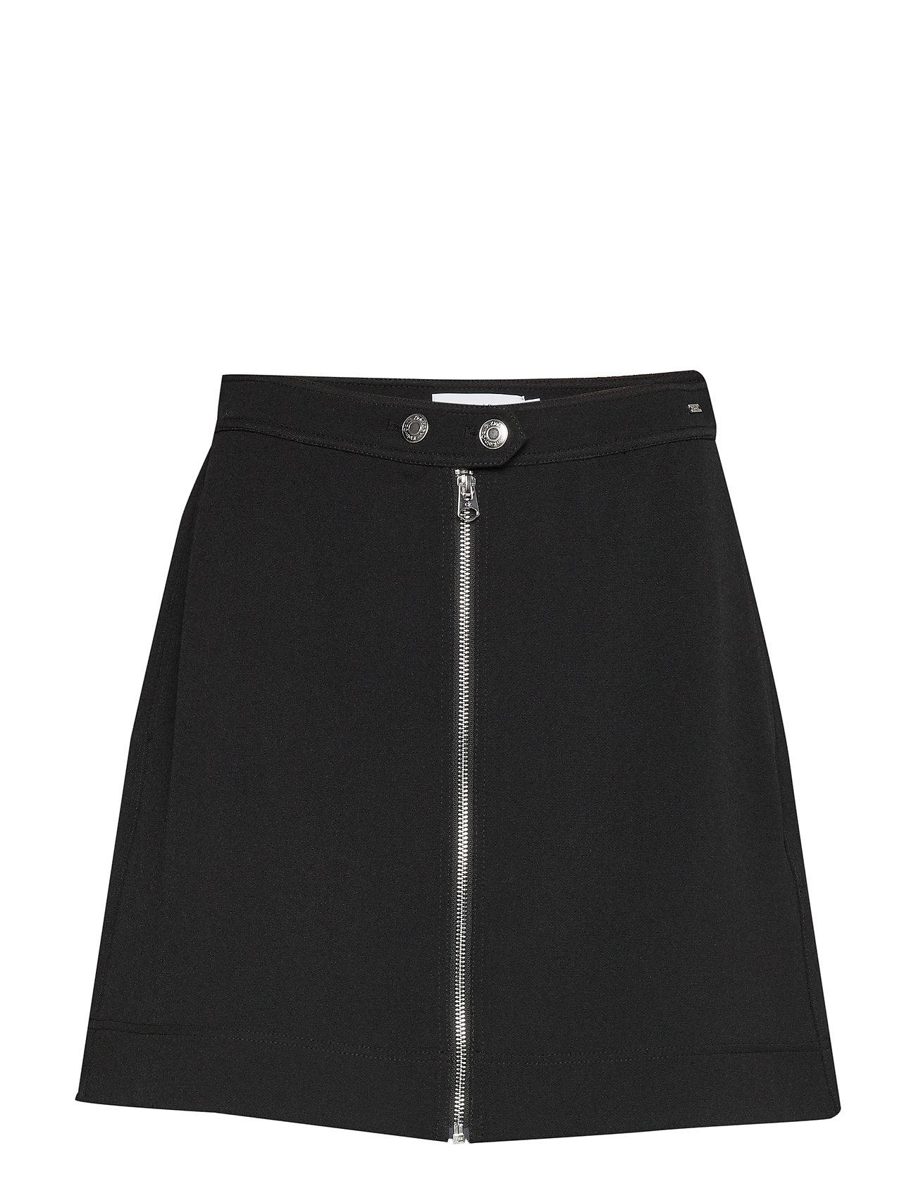 Calvin Klein DOUBLE CREPE MINI SKIRT - CALVIN BLACK