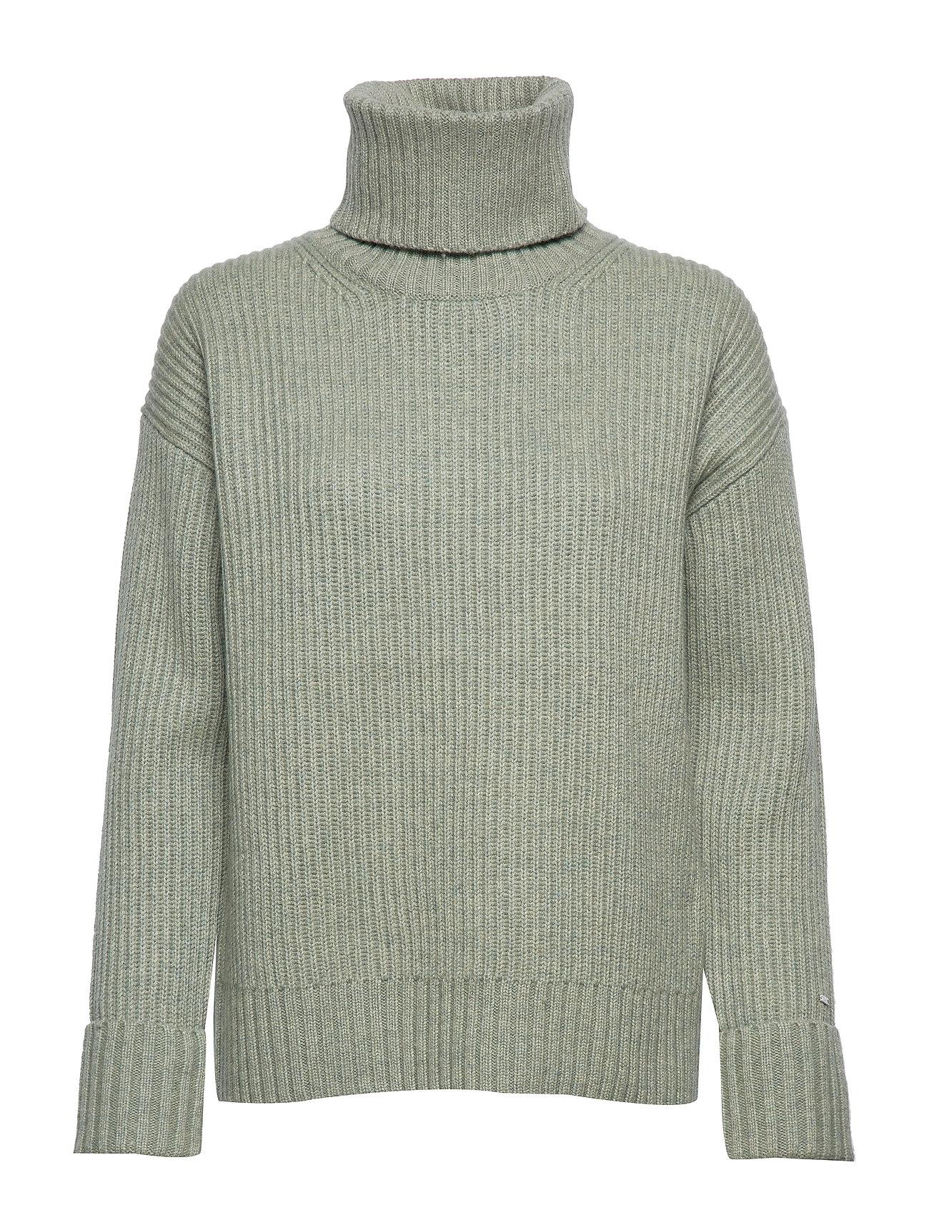 Calvin Klein LS TURTLE NECK SWEATER - SEAGRASS