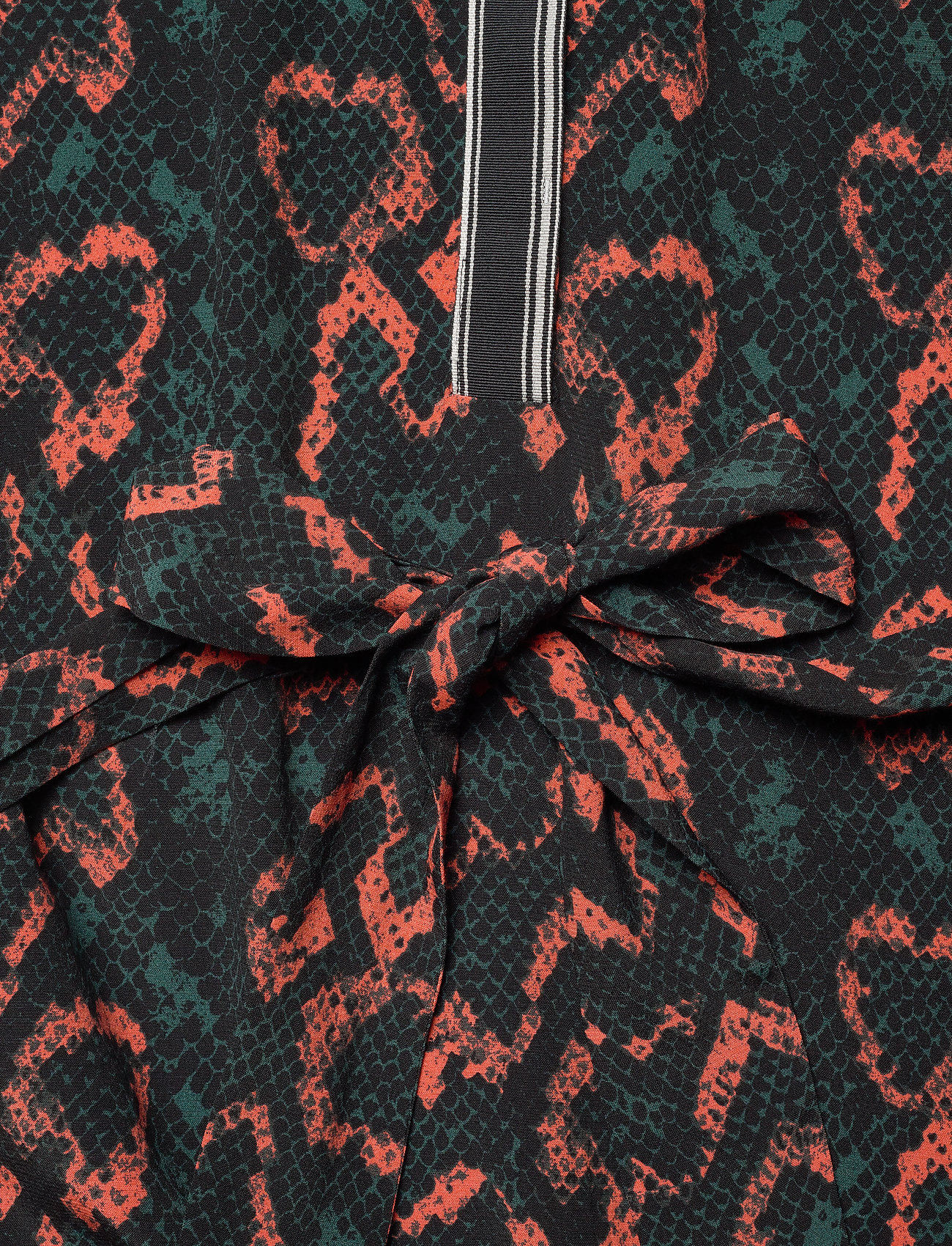 Prt Belted Ls Placket Dress (Python - Chemise / Black) (1020 kr) - Calvin Klein