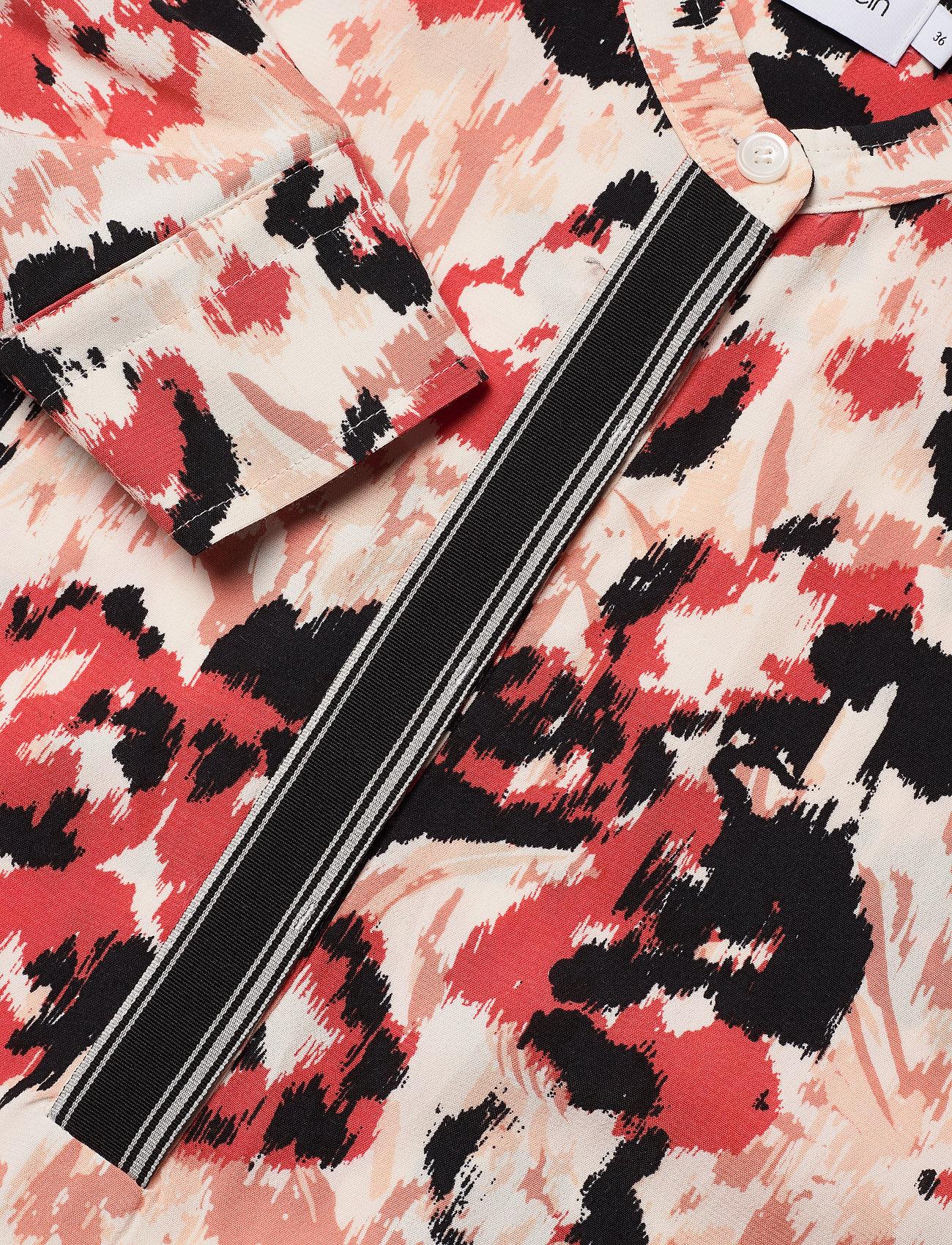 Prt Ls Placket Detail Blouse (Ikat Floral) (550 kr) - Calvin Klein