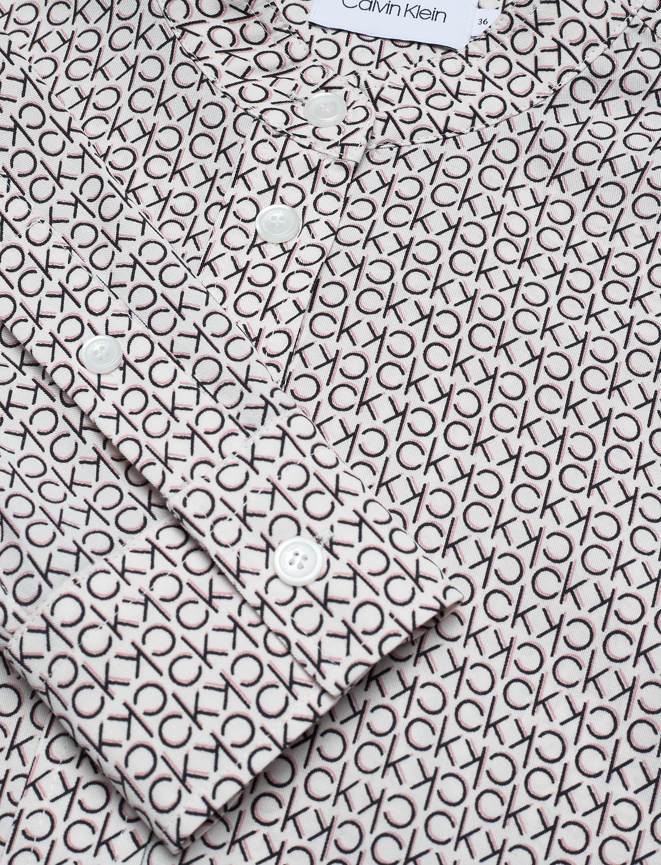 Ls Ck Monogram Shirt (Ck Shadow - White Smoke / Blac) (1000 kr) - Calvin Klein