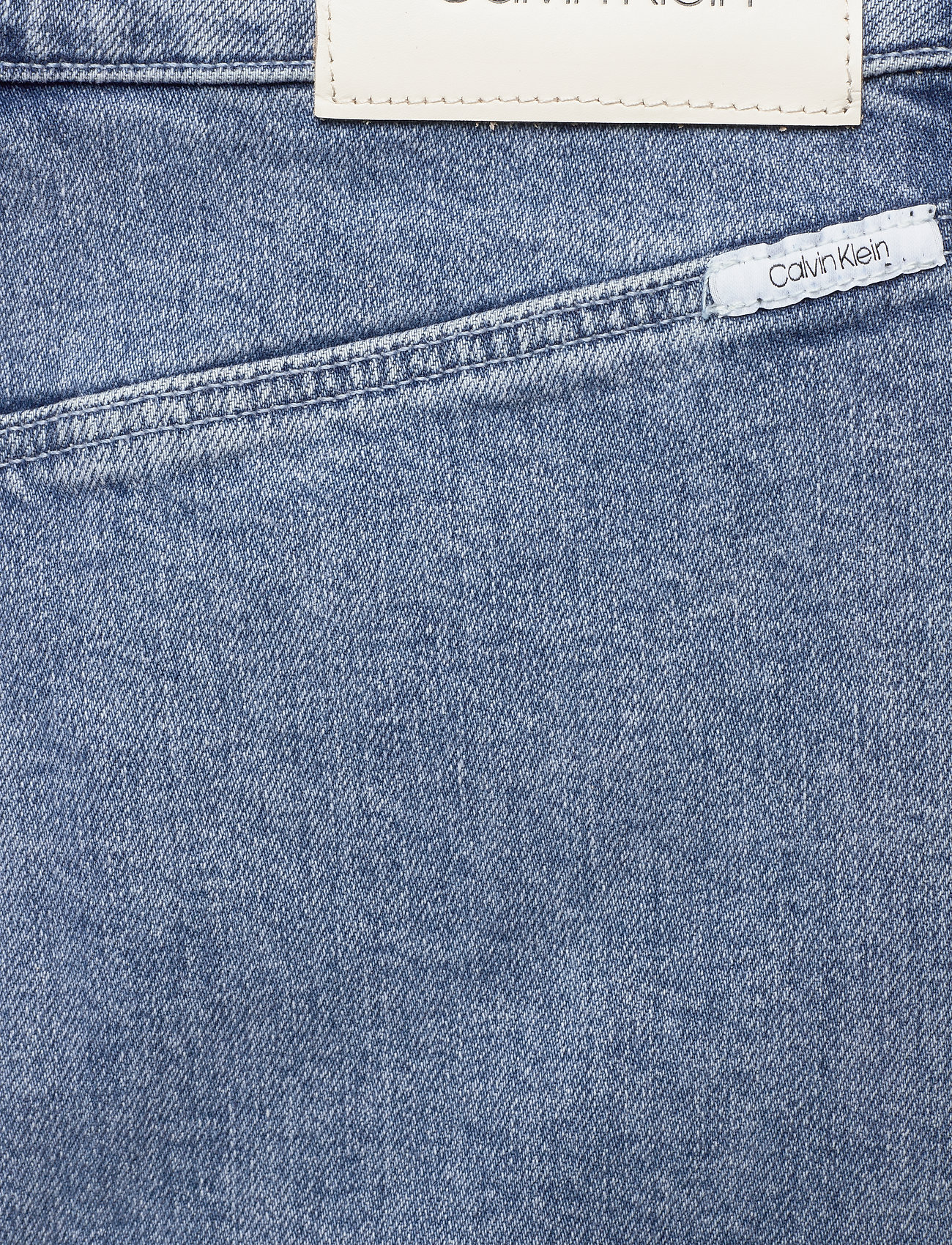 Calvin Klein BUTTON UP MIDI SKIRT - Skirts ICE CUBE DARK BLUE