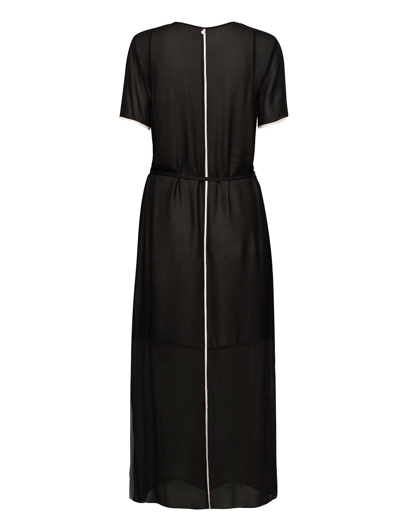 CALVIN KLEIN Kleider | Viscose Georgette Dress Maxikleid Partykleid Schwarz CALVIN KLEIN