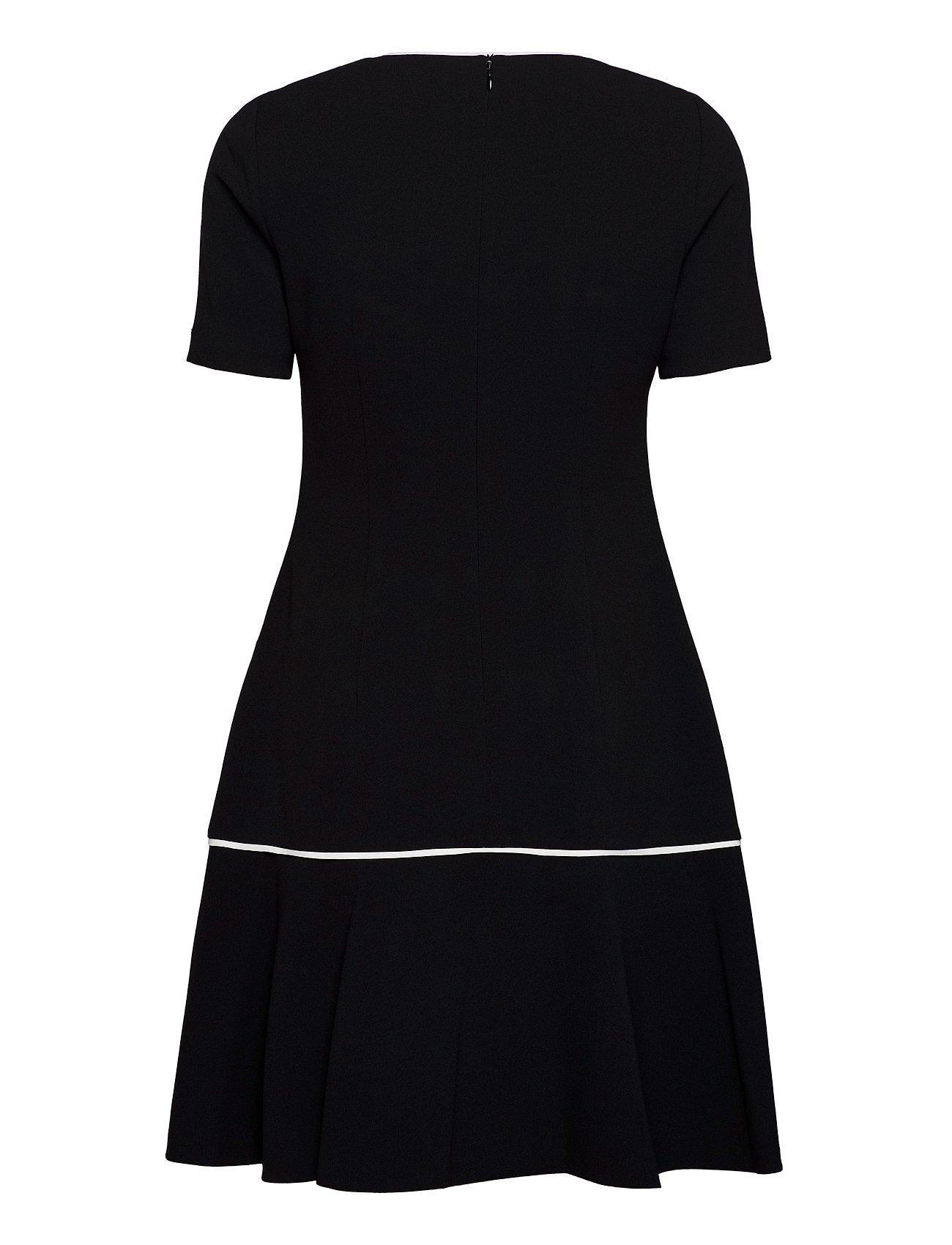 CALVIN KLEIN Kleider | Ss Piping Detail Peplum Dress Kleid Knielang Schwarz CALVIN KLEIN