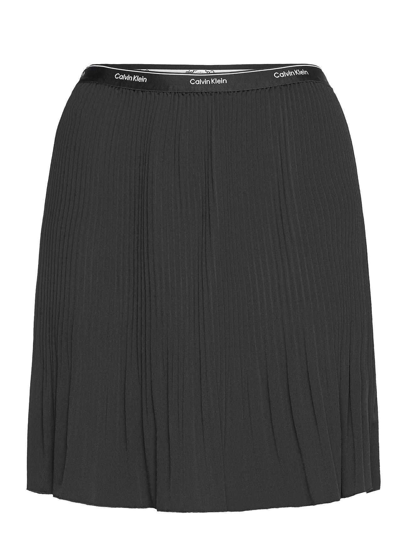 Short Micro Pleat Skirt Kort Nederdel Sort Calvin Klein