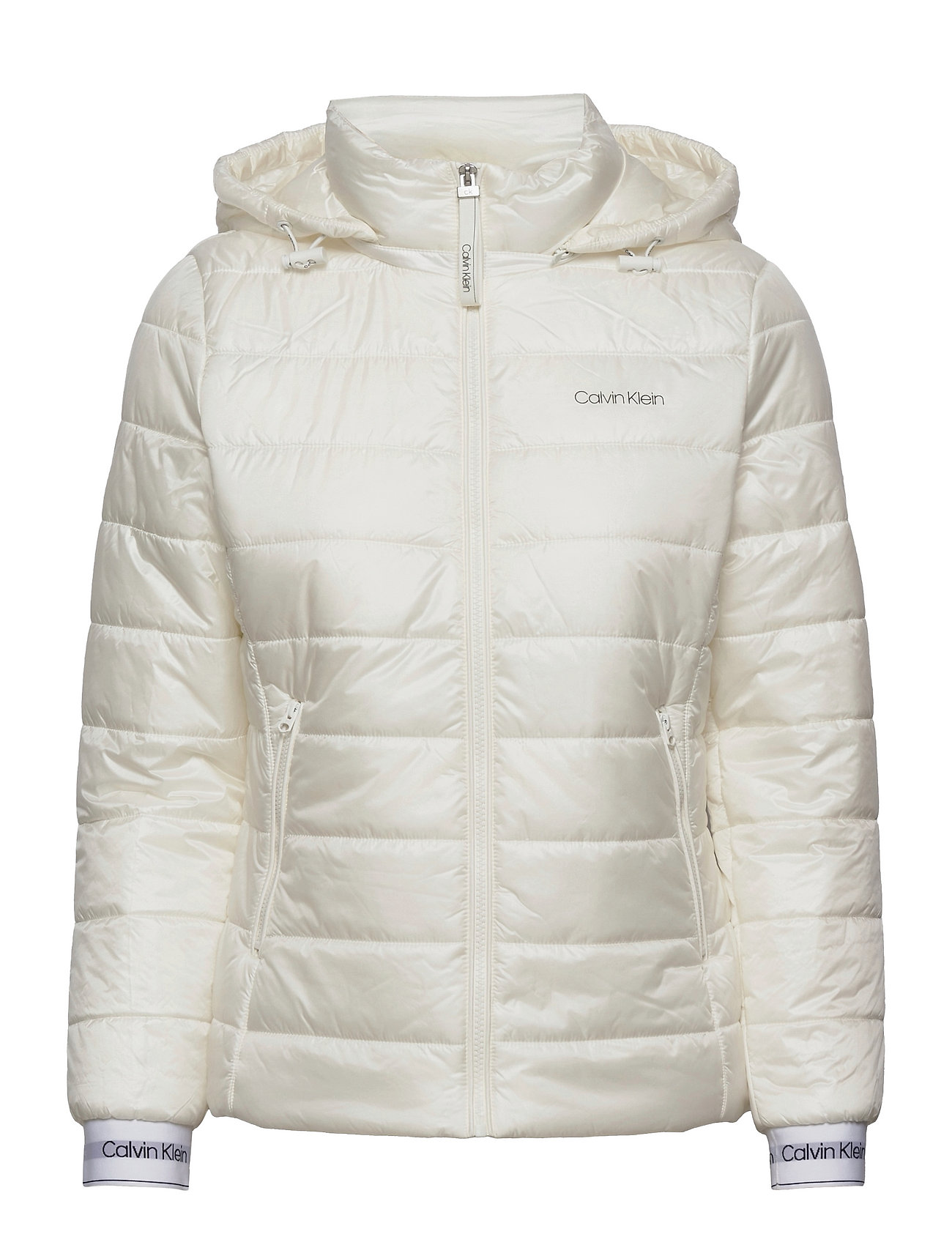 Essential Sorona Short Jacket Foret Jakke Hvid Calvin Klein