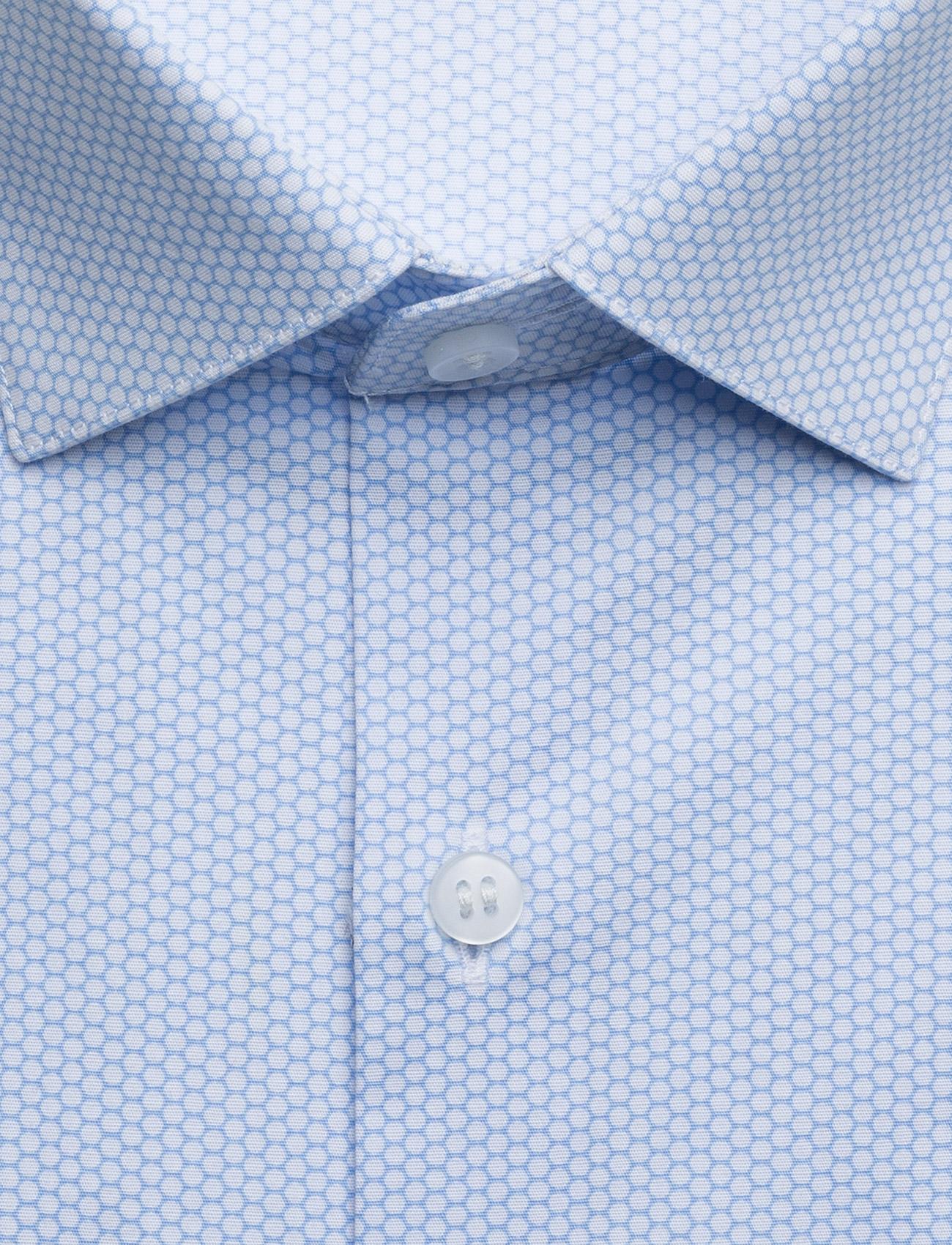 CALVIN KLEIN Printed Stretch Slim Hemd Blau CALVIN KLEIN