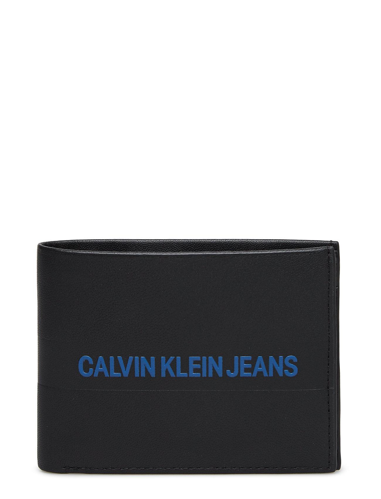 Calvin Klein LOGO STRIPE BILLFOLD - BLACK