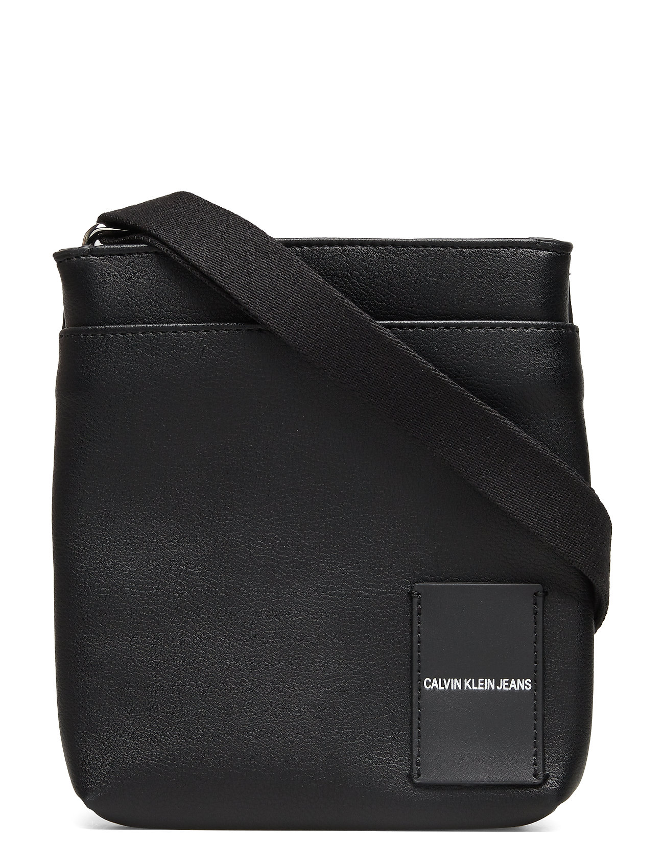 Calvin Klein COATED CANVAS MICRO FLAT PACK - BLACK