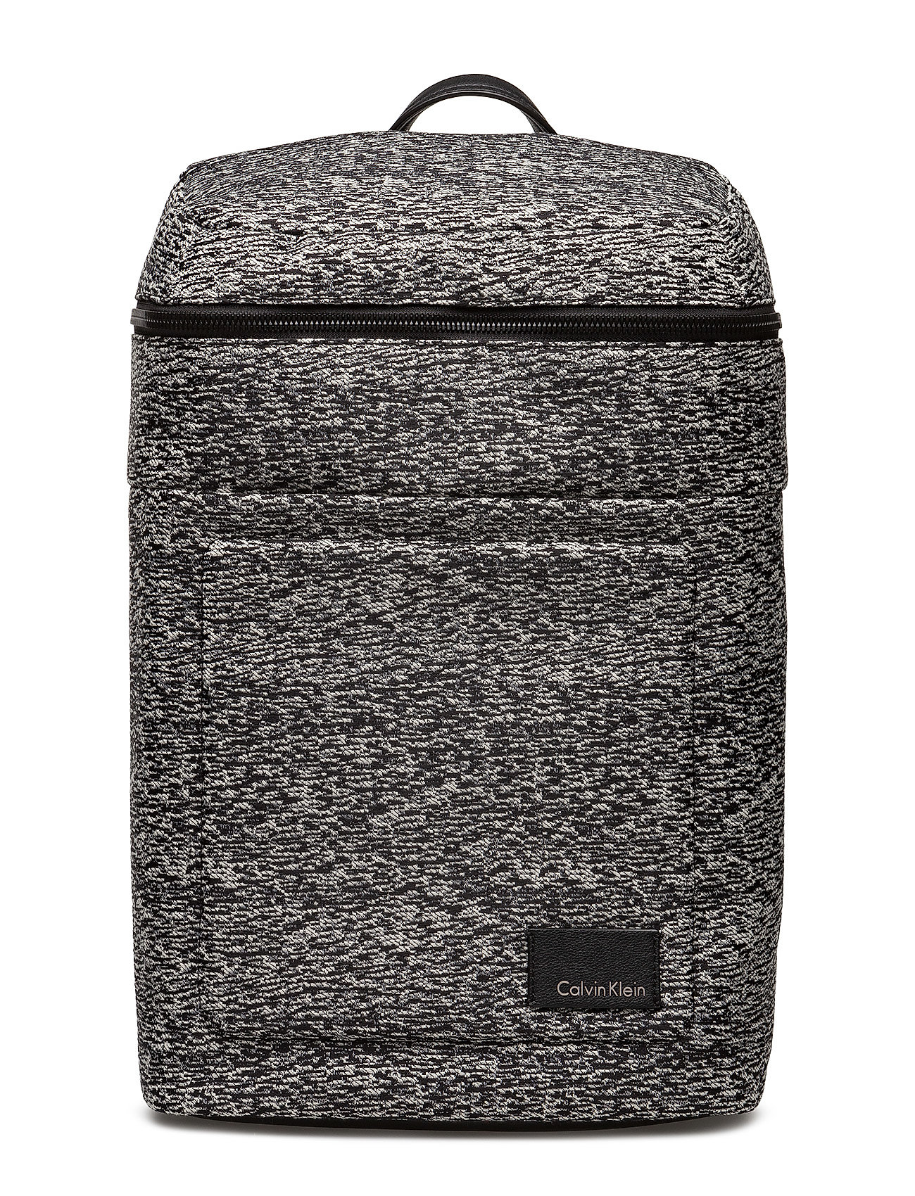 Calvin Klein ILAY JACQUARD BACKPA - BLACK/DUSTY IVORY