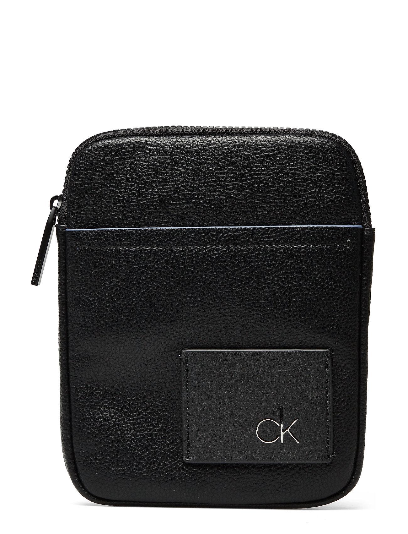CALVIN KLEIN Ck Direct Mini Flat Schultertasche Tasche Schwarz CALVIN KLEIN