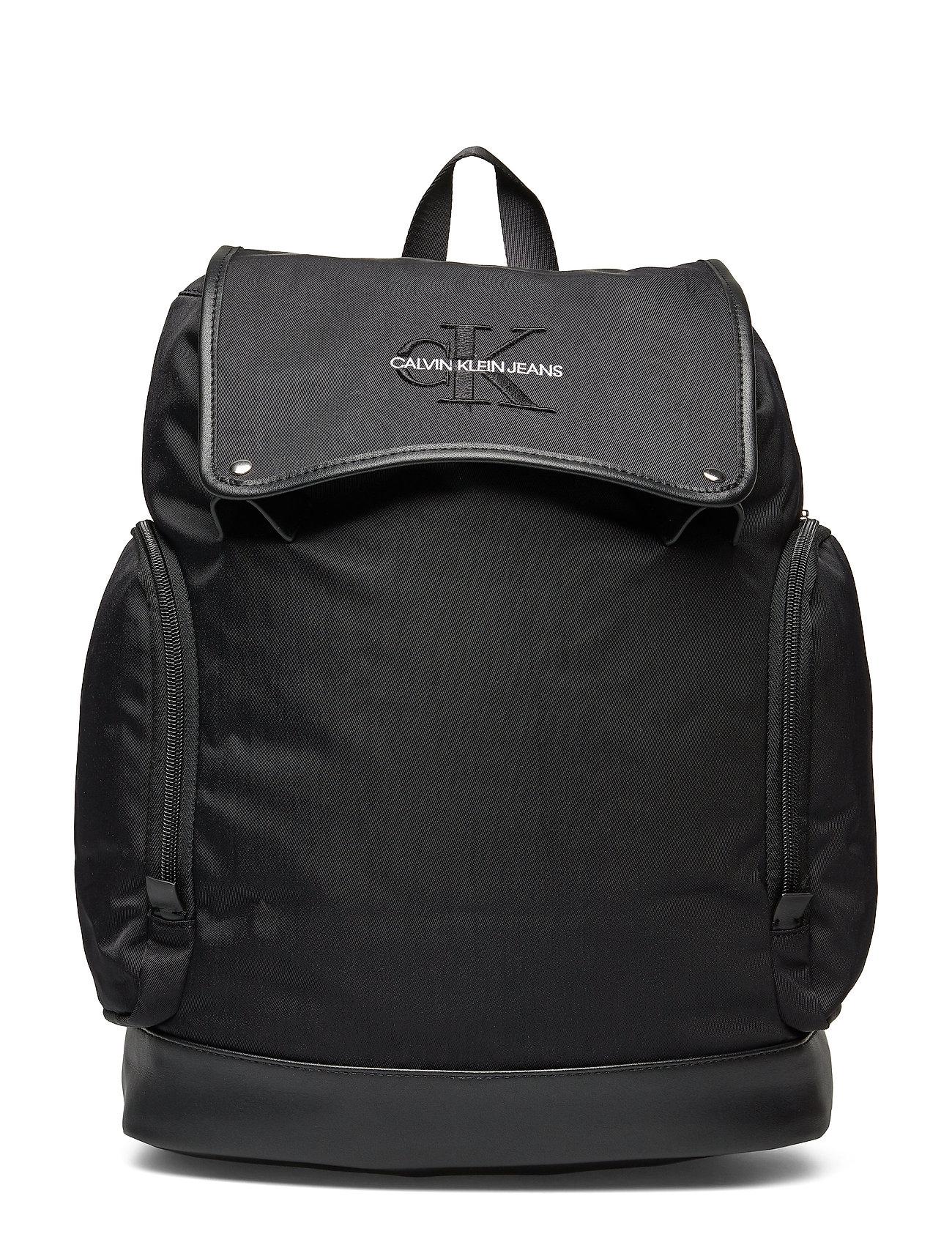 Calvin Klein MONOGRAM NYLON FLAP - BLACK