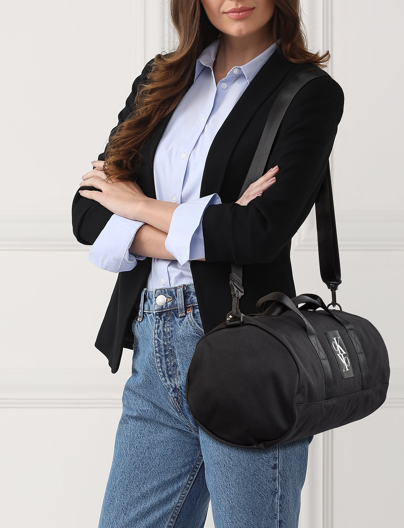 Calvin Klein SPORT ESSENTIALS BRL DUFFLE 49 - BLACK