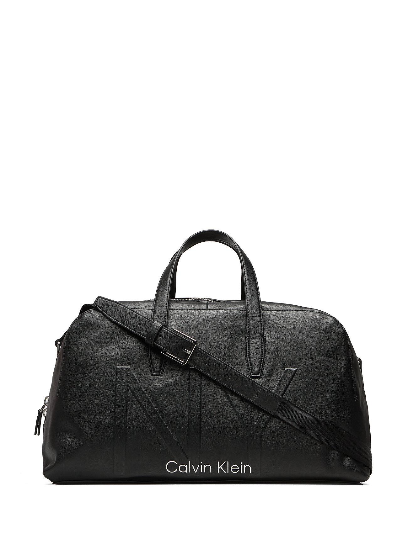 Calvin Klein NY SHAPED LARGE DUFFLE - BLACK