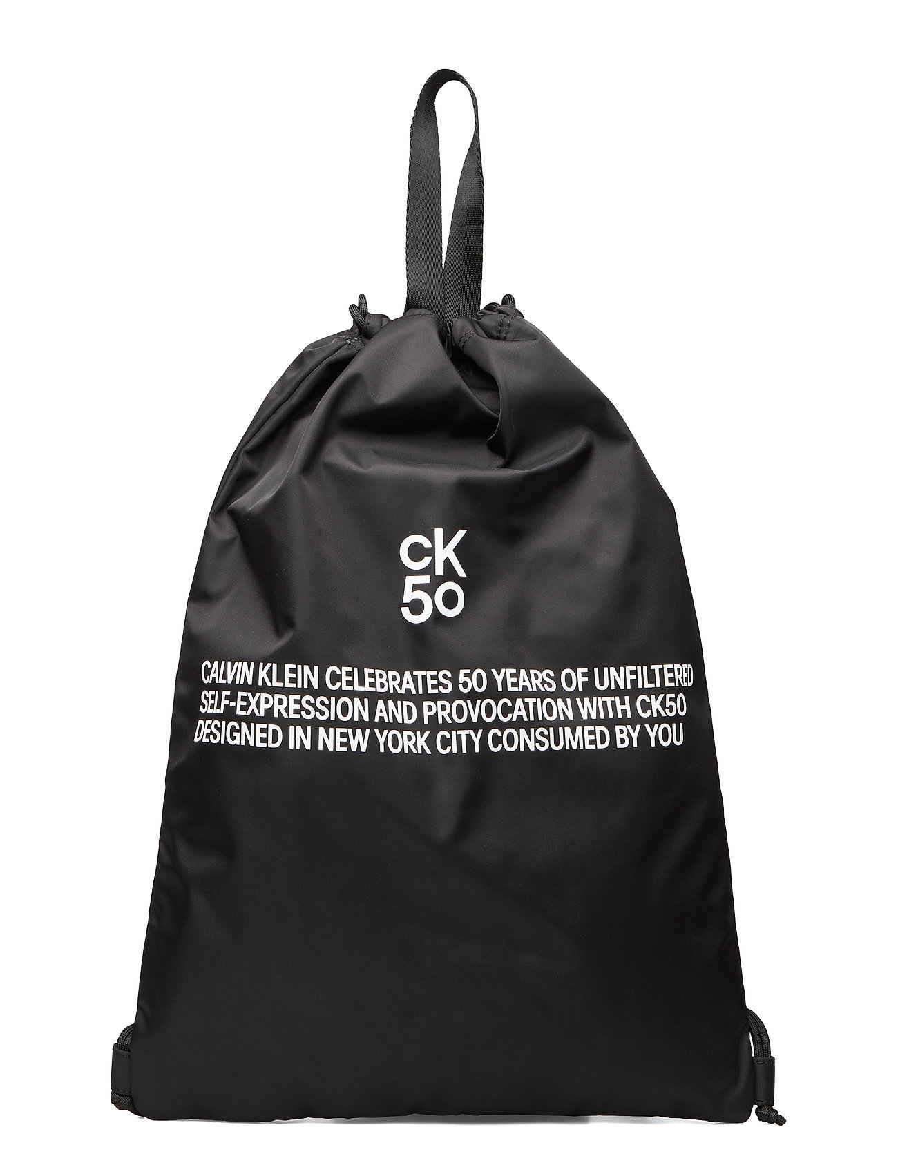 Calvin Klein CKJ 50 DRAWSTRING GYM BAG - BLACK