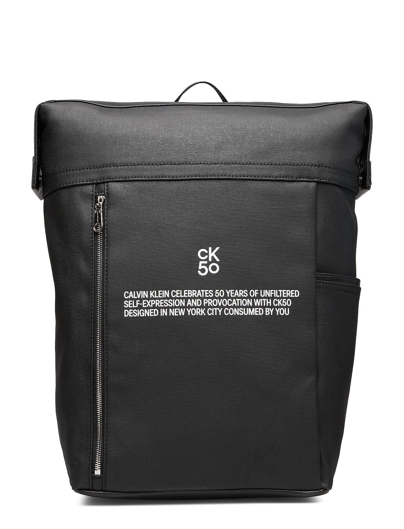 Calvin Klein CKJ 50 SQUARE BACKPACK 45 - BLACK