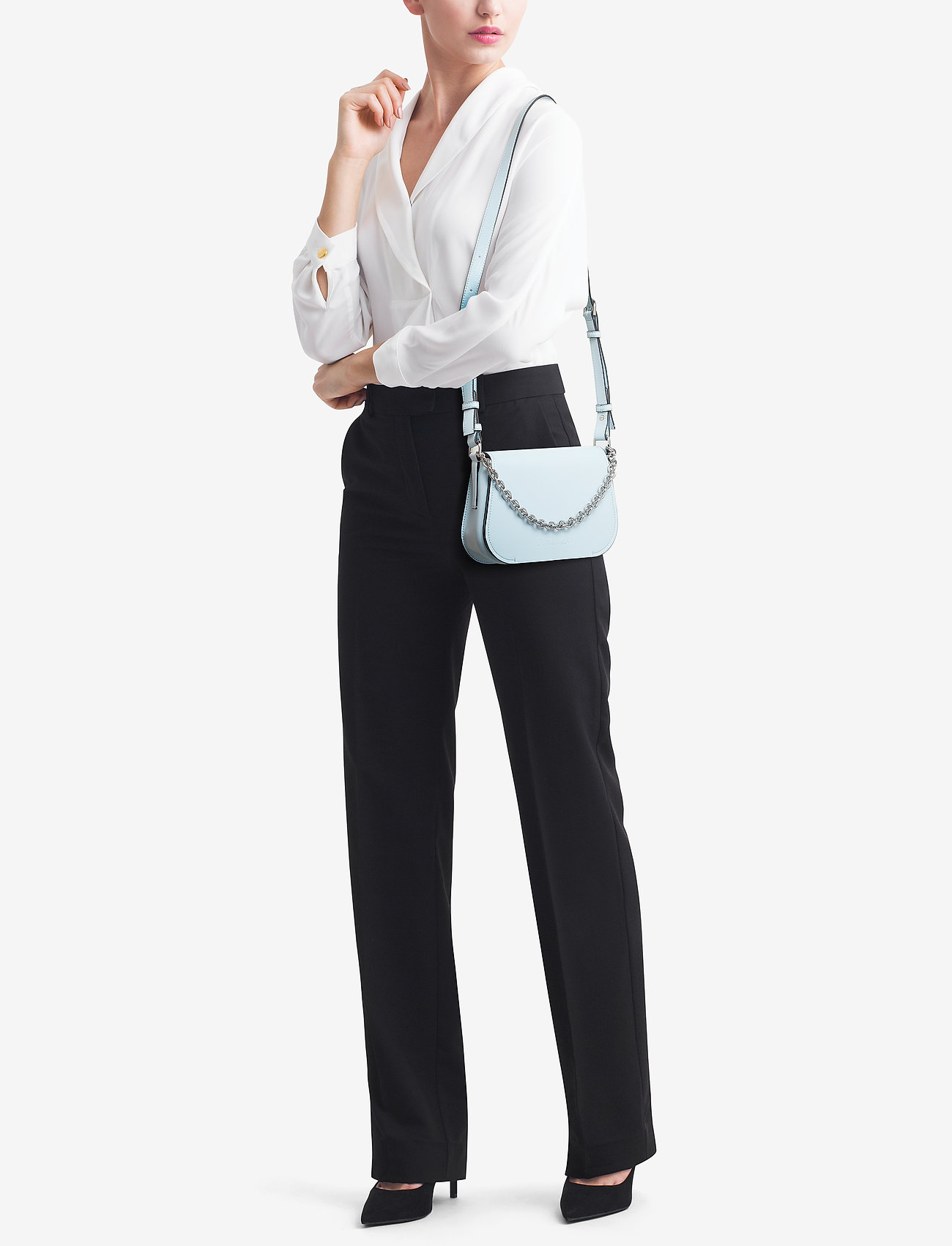 Calvin Klein DRESSED UP SHOULDER BAG - PALE BLUE
