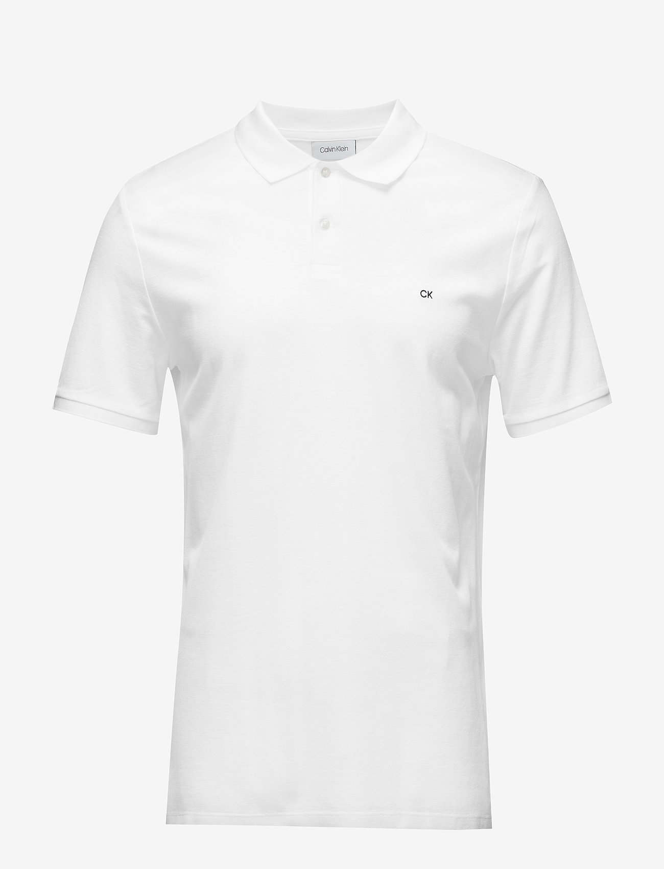 Calvin Klein - REFINED PIQUE CHEST - korte mouwen - perfect white - 0