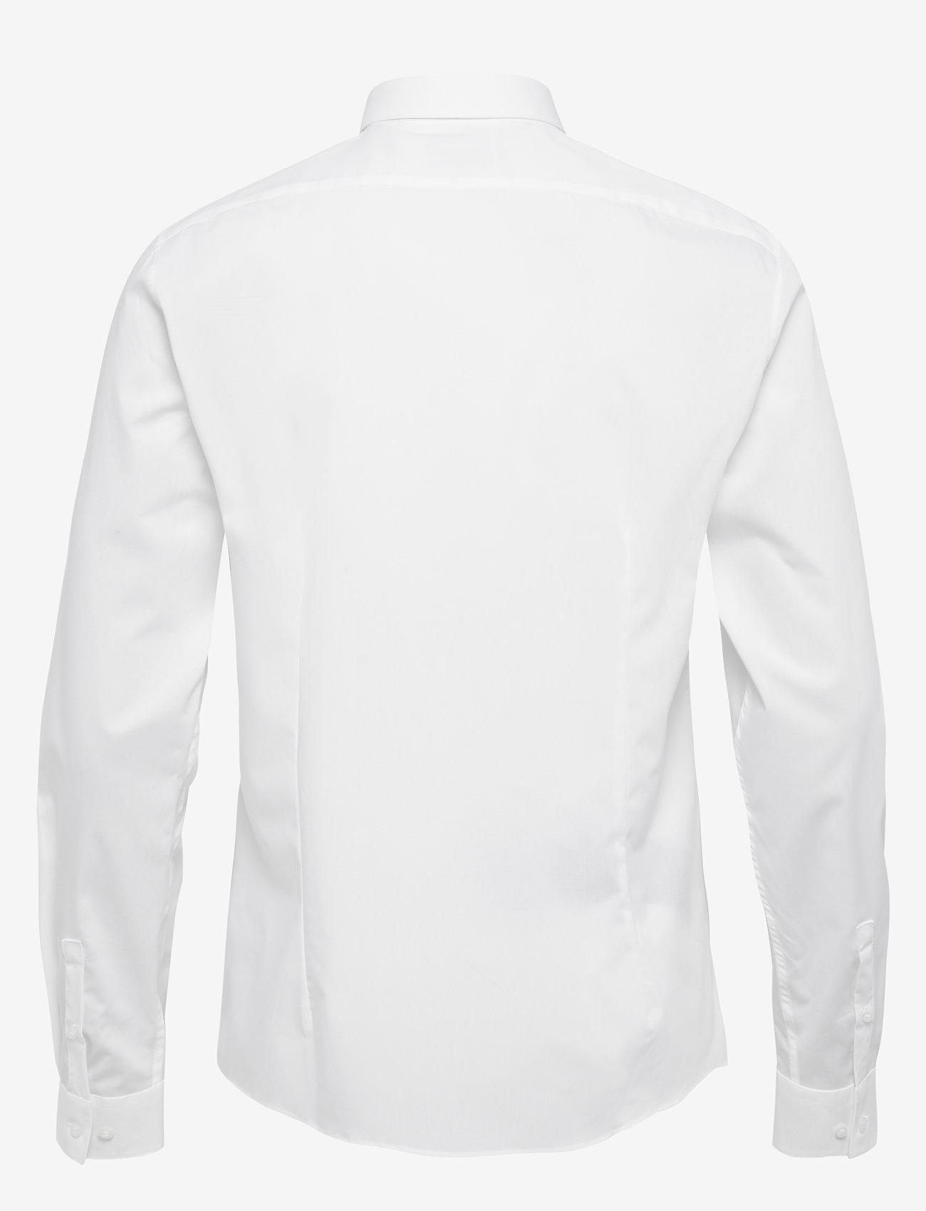 Calvin Klein - 2PLY POPLIN STRETCH SLIM SHIRT - basic shirts - df white - 1