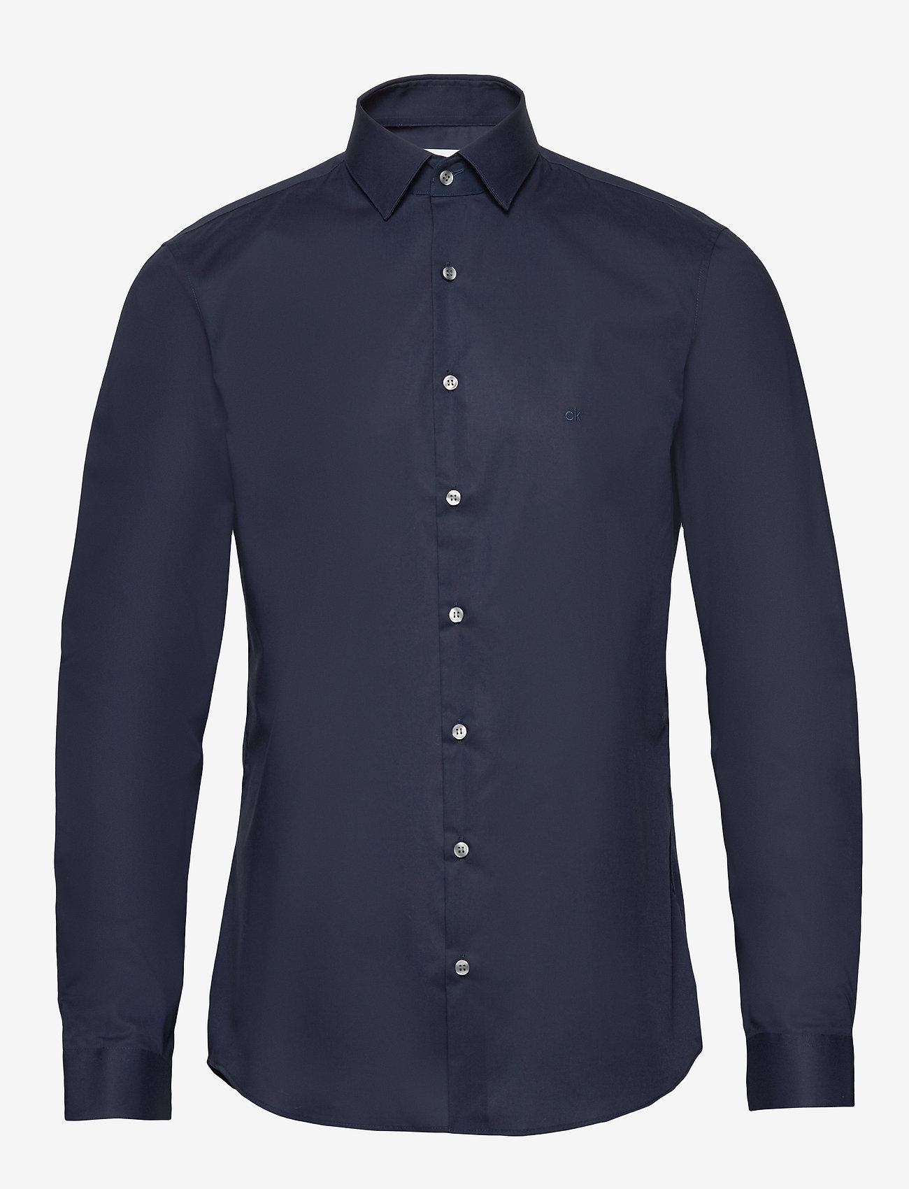 Calvin Klein - 2PLY POPLIN STRETCH SLIM SHIRT - basic shirts - midnight blue - 0