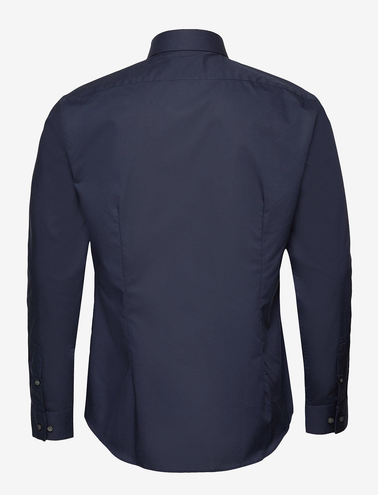 Calvin Klein - 2PLY POPLIN STRETCH SLIM SHIRT - basic shirts - midnight blue - 1