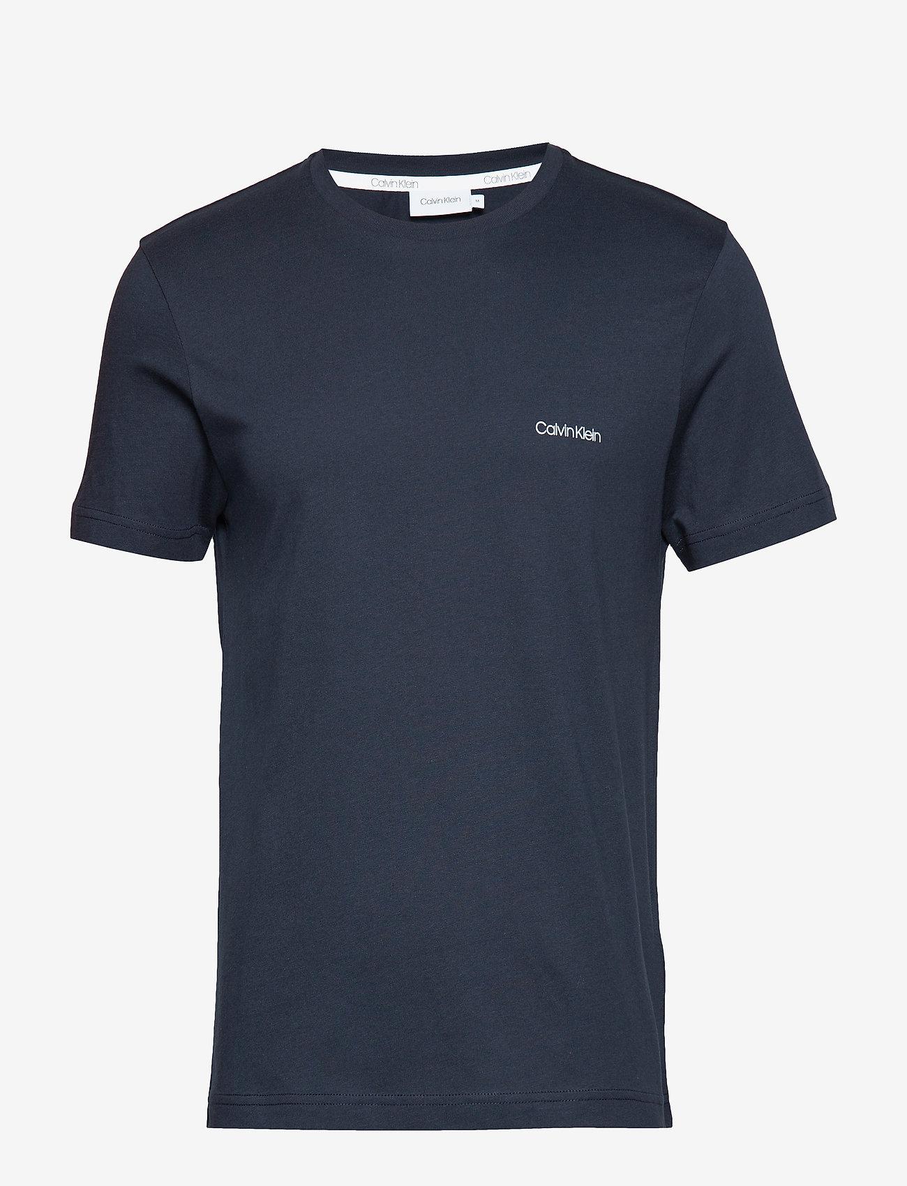 Calvin Klein - COTTON CHEST LOGO T-SHIRT - basic t-shirts - calvin navy - 0