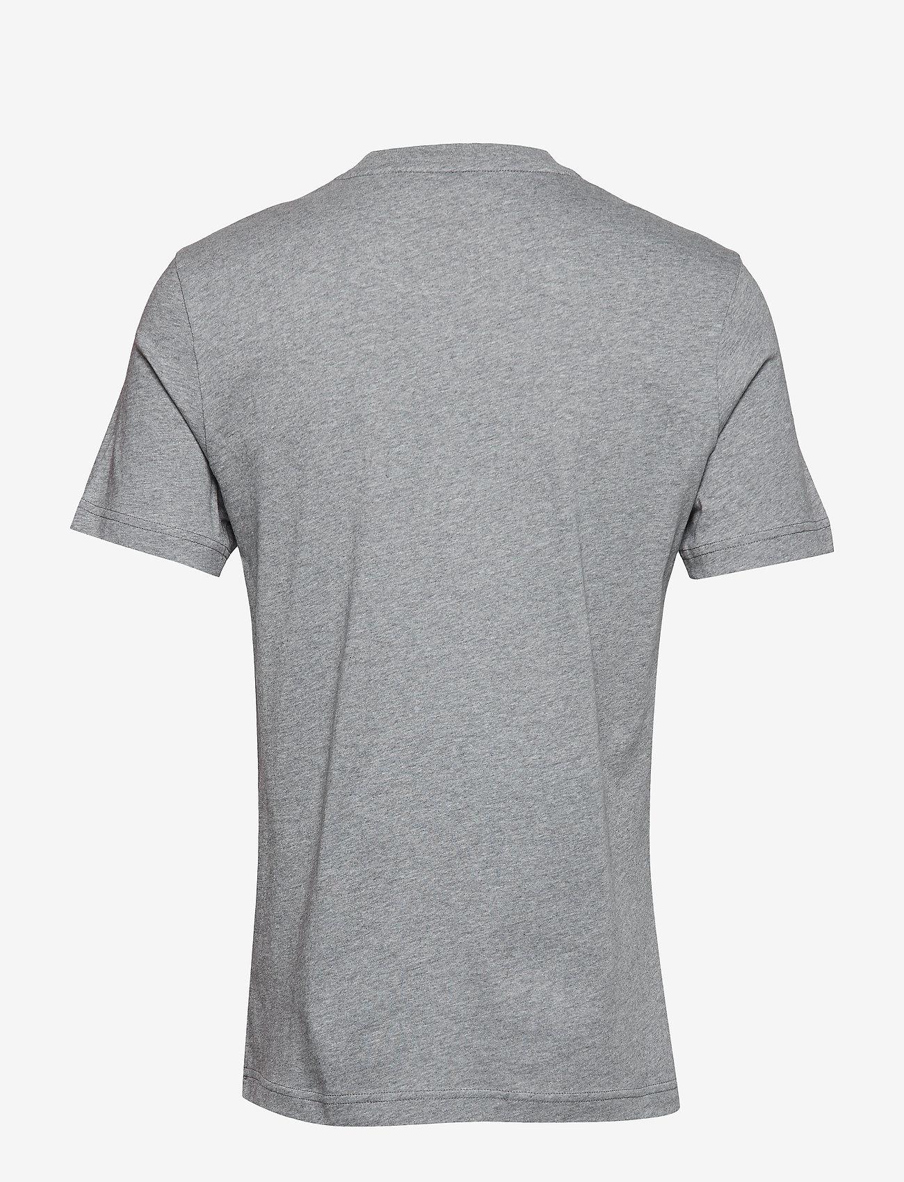 Calvin Klein - COTTON CHEST LOGO T-SHIRT - basic t-shirts - mid grey heather - 1