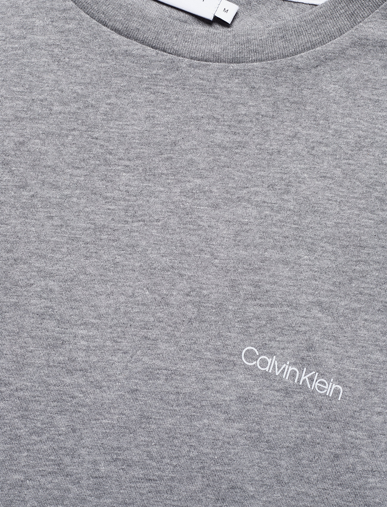 Calvin Klein - COTTON CHEST LOGO T-SHIRT - basic t-shirts - mid grey heather - 2