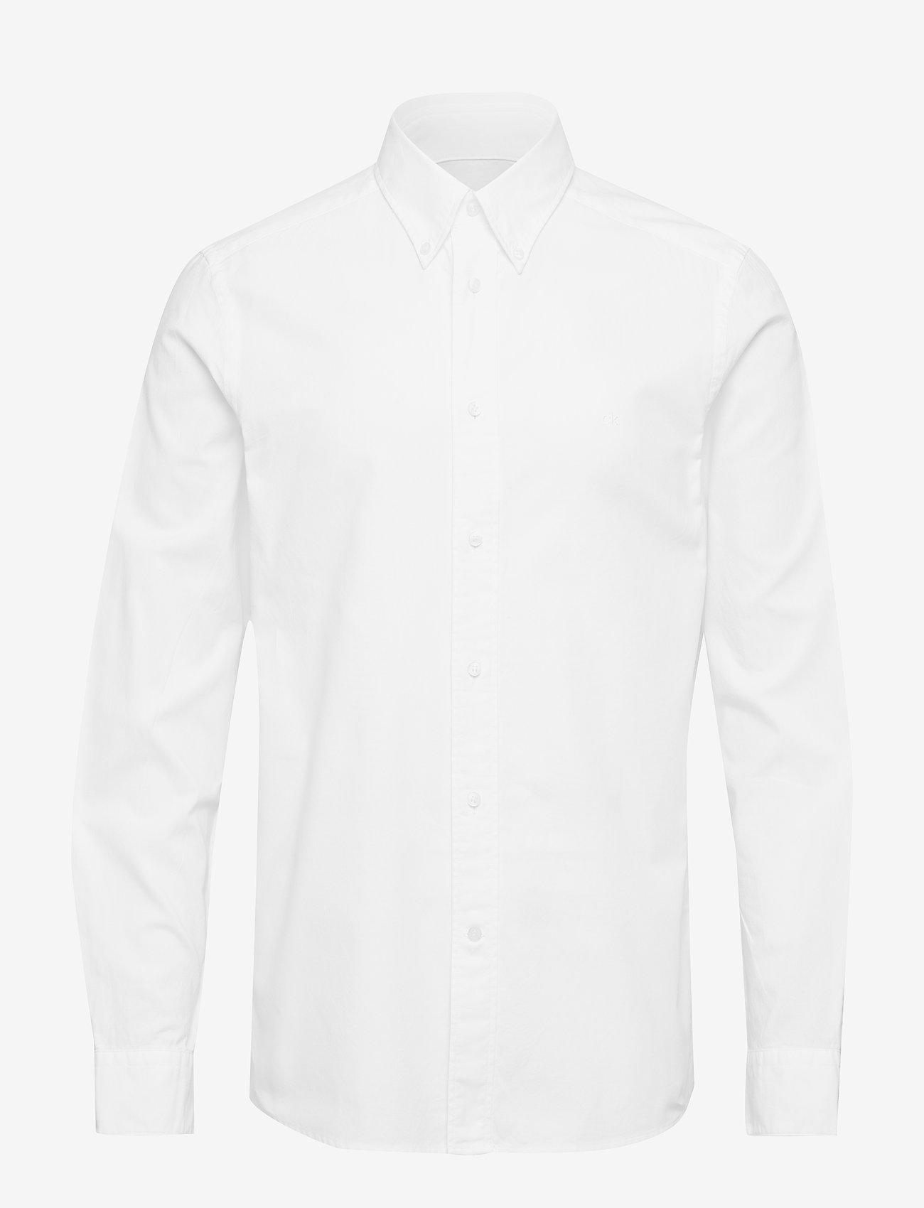 Calvin Klein - BUTTON DOWN WASHED O - basic overhemden - calvin white - 1