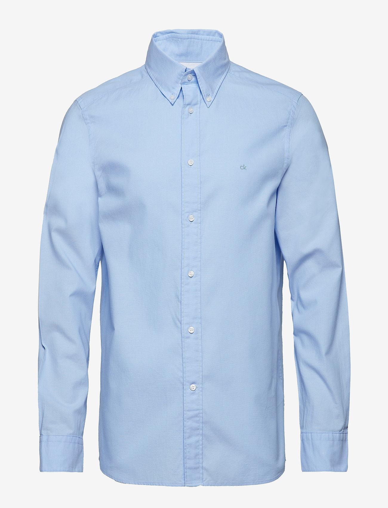 Calvin Klein - BUTTON DOWN WASHED O - basic shirts - light blue - 0