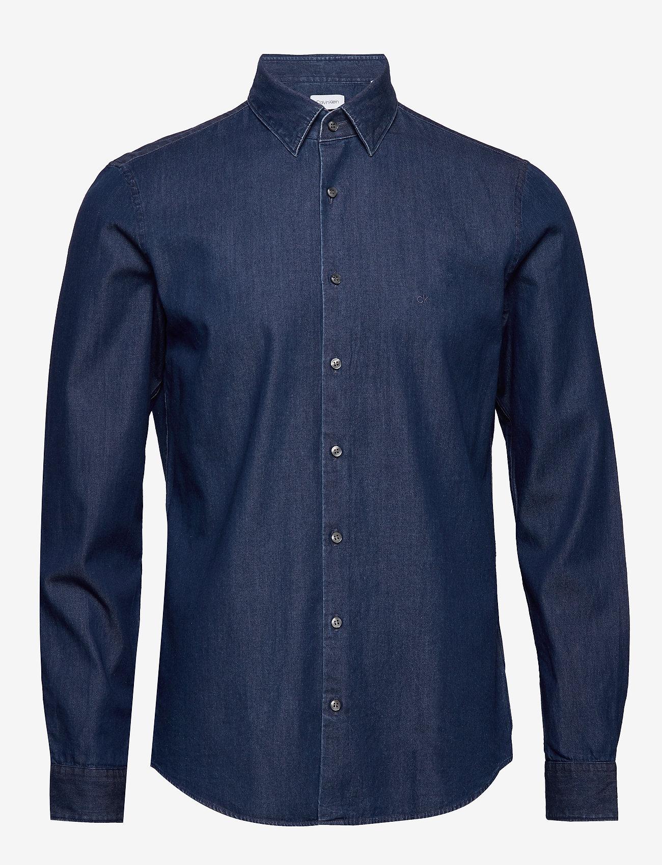 Calvin Klein - DENIM WASHED SLIM SH - basic overhemden - blue - 0