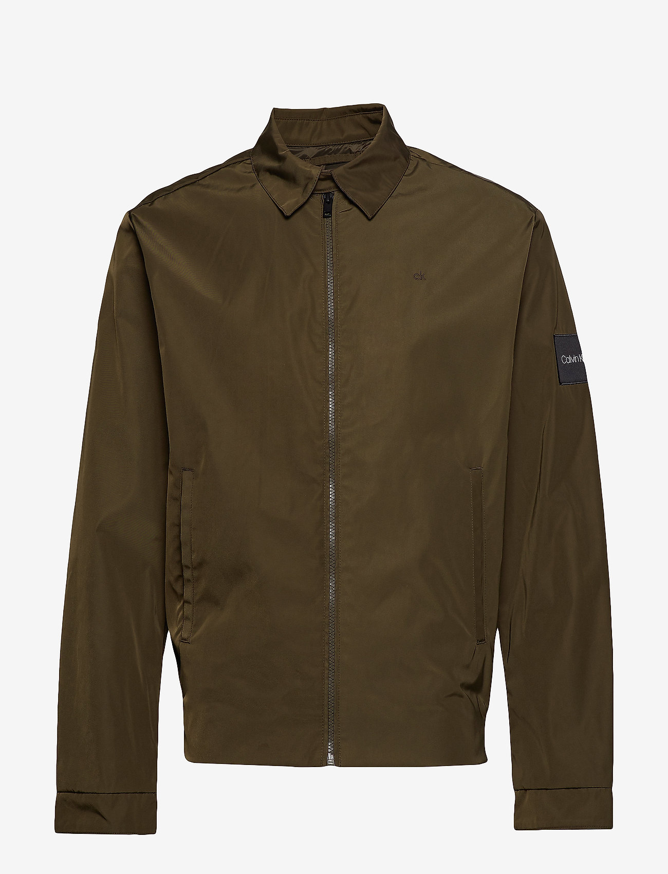 Calvin Klein - NYLON HARRINGTON JAC - light jackets - ck dark olive - 0