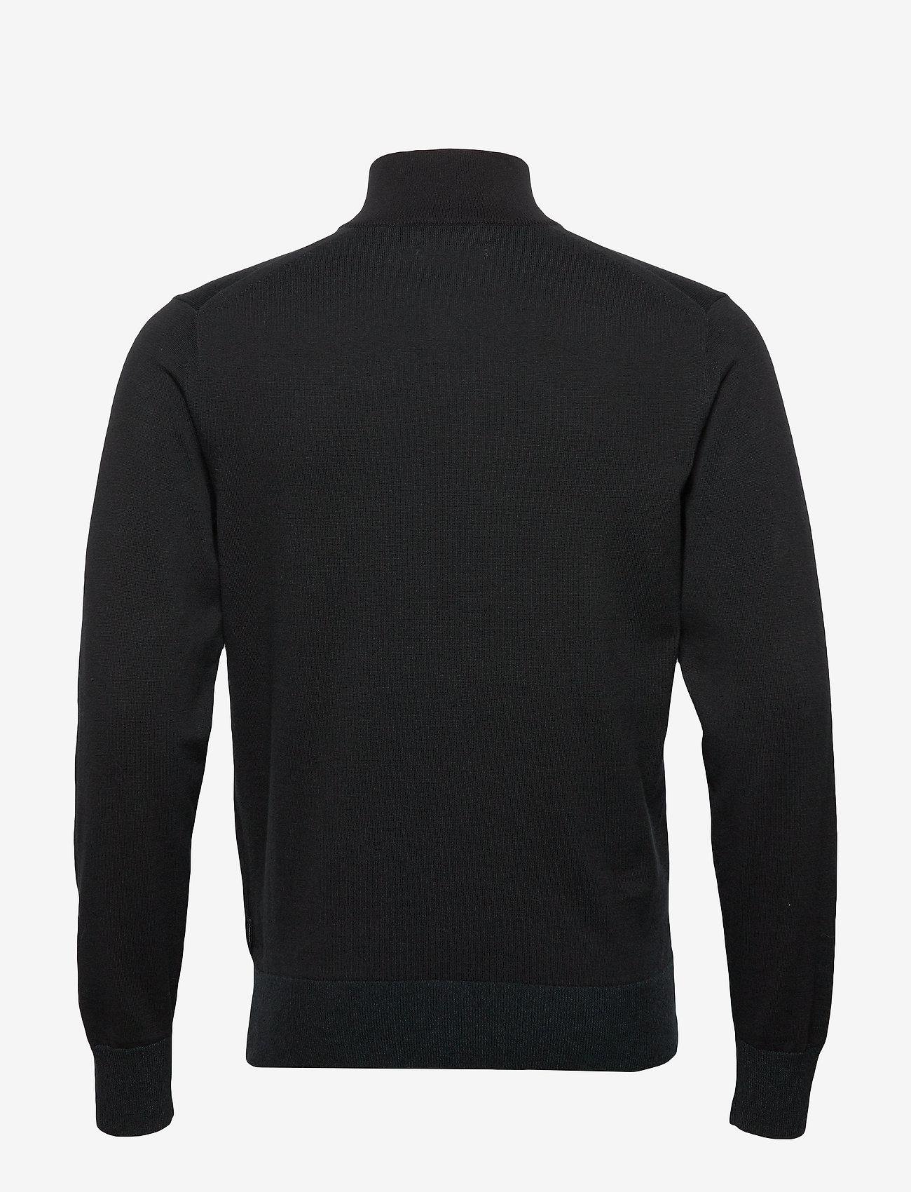 Cotton Silk 1/4 Zip Sweater (Calvin Black) - Calvin Klein eGaQTo