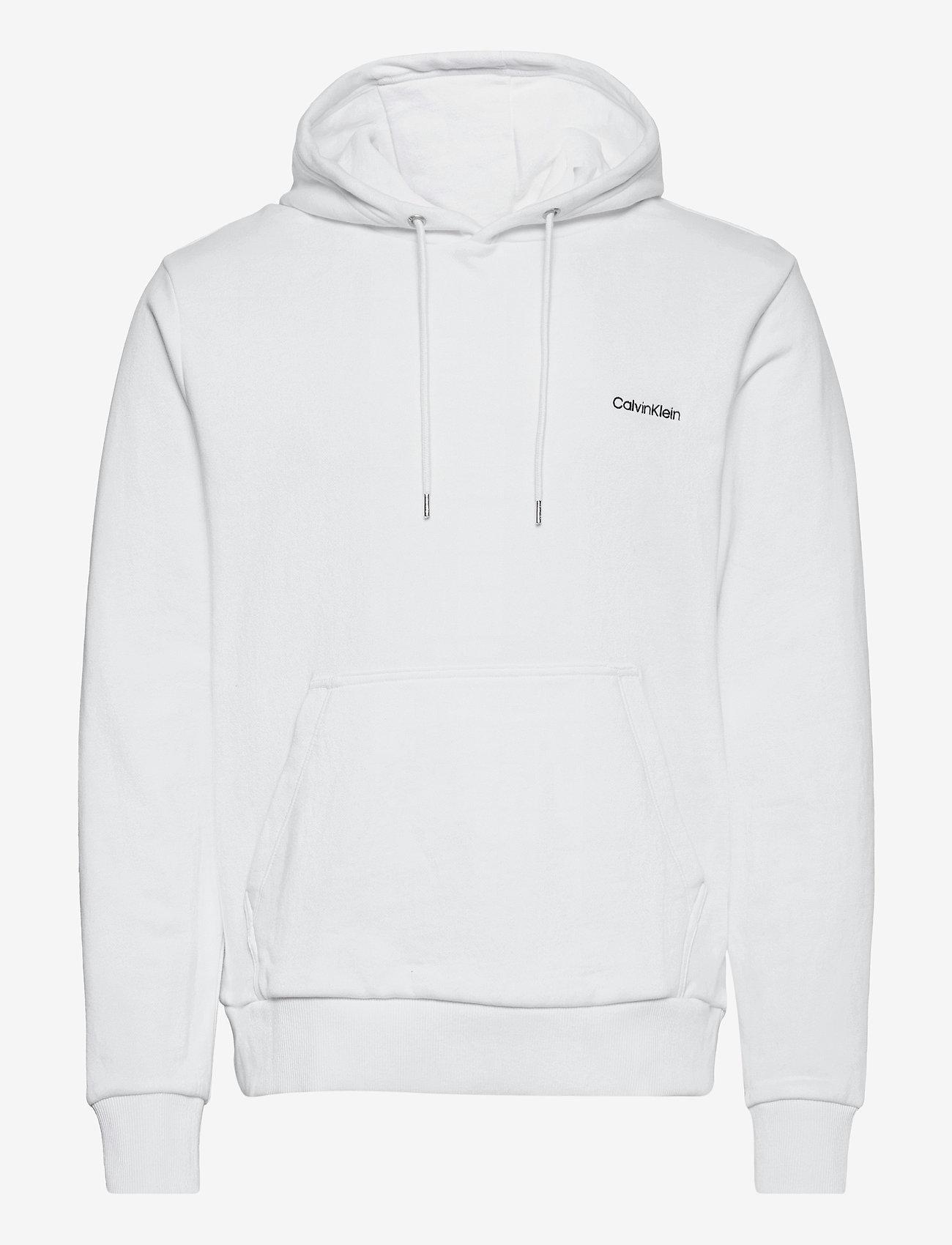 Calvin Klein - LOGO EMBROIDERY HOODIE - hoodies - bright white - 0
