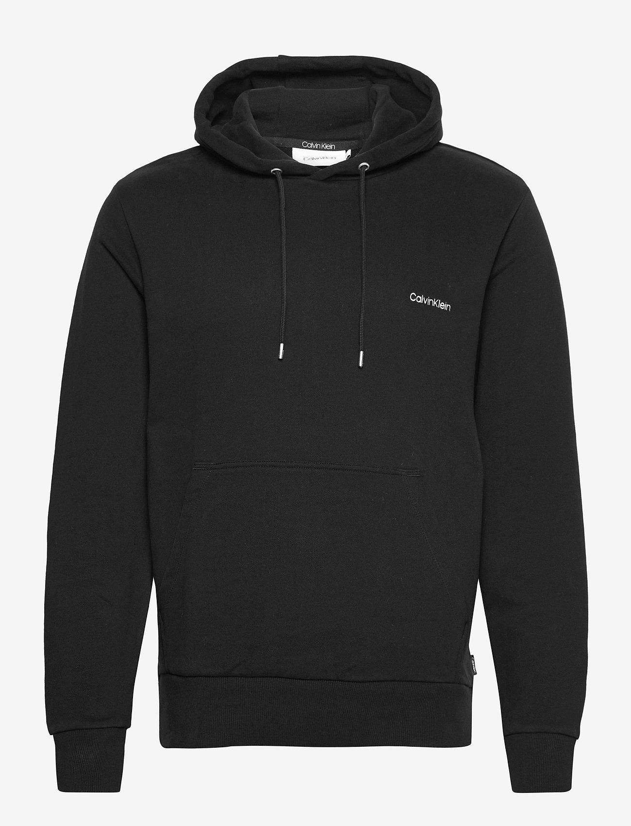 Calvin Klein - LOGO EMBROIDERY HOODIE - hoodies - ck black - 0