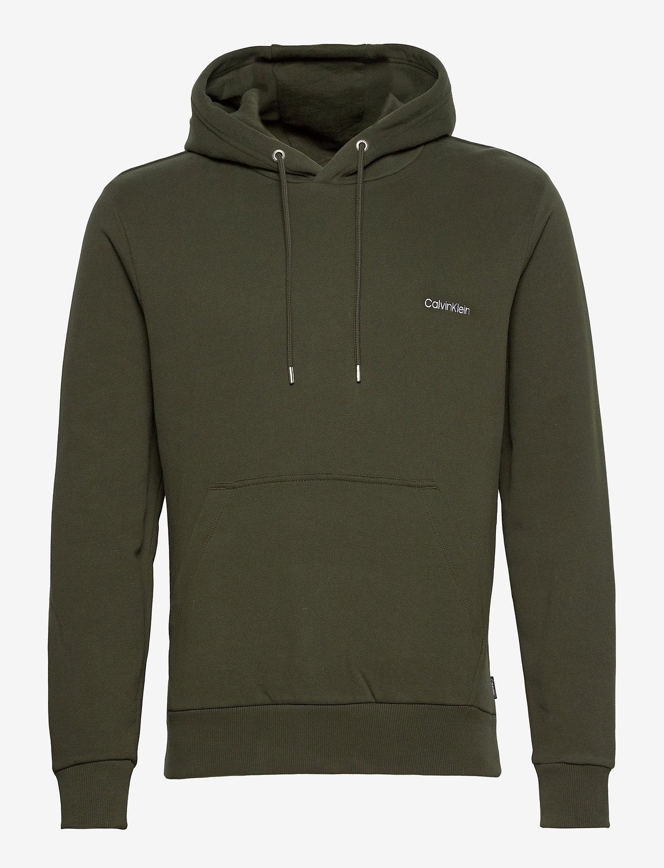 Calvin Klein - LOGO EMBROIDERY HOODIE - hoodies - dark olive - 0