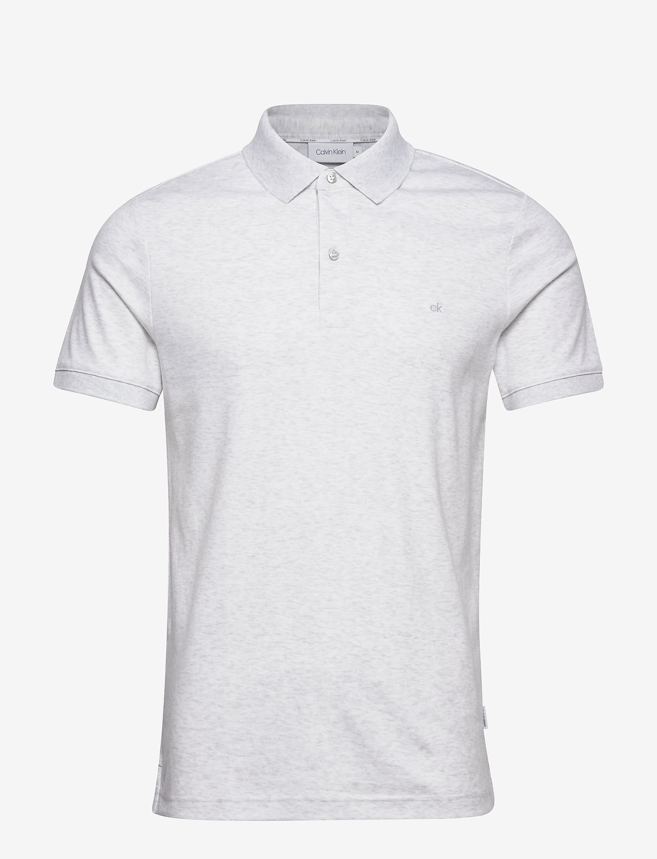 Calvin Klein - SOFT INTERLOCK SLIM POLO - polos à manches courtes - ecru heather - 0