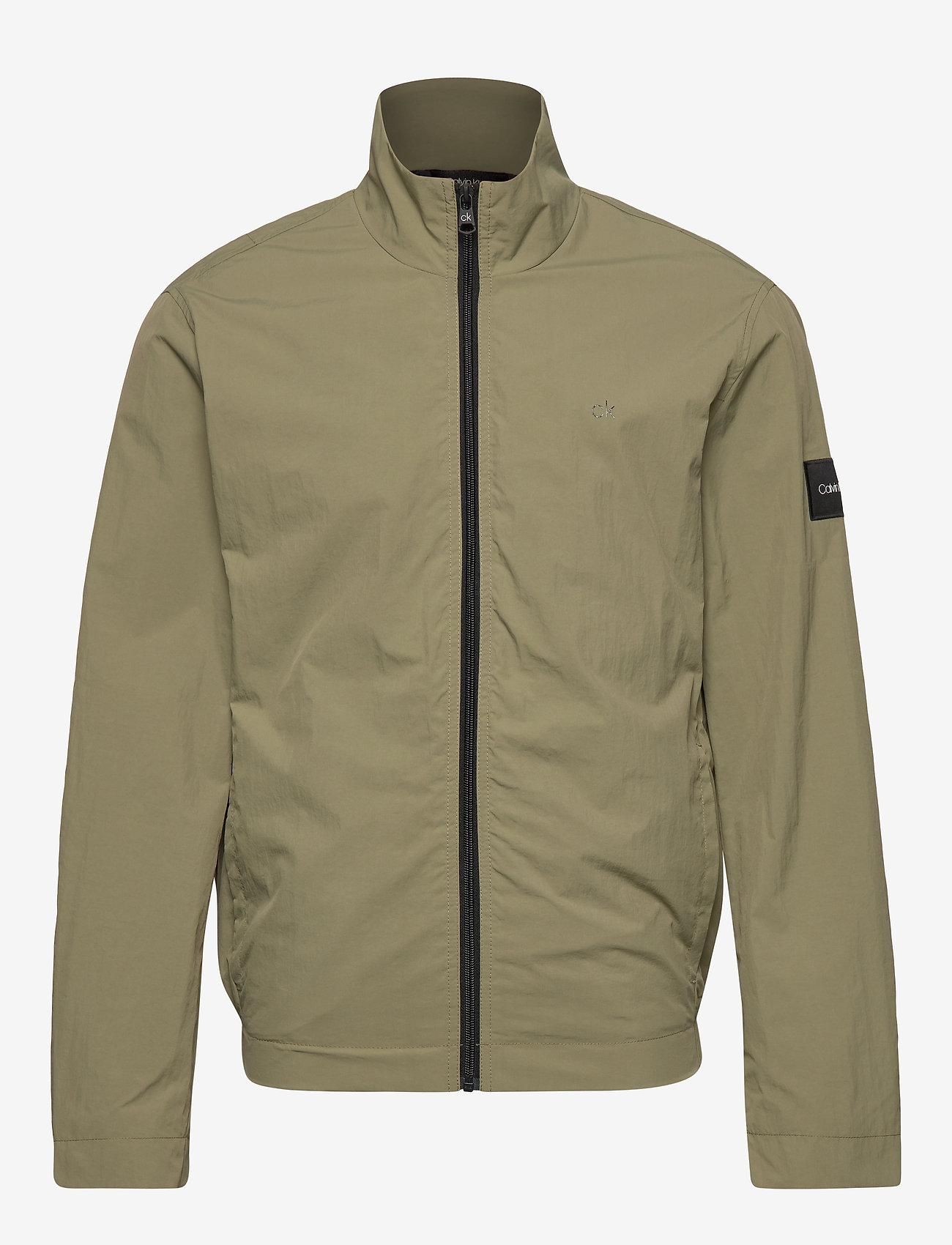 Calvin Klein - CRINKLE NYLON BLOUSO - light jackets - delta green - 1