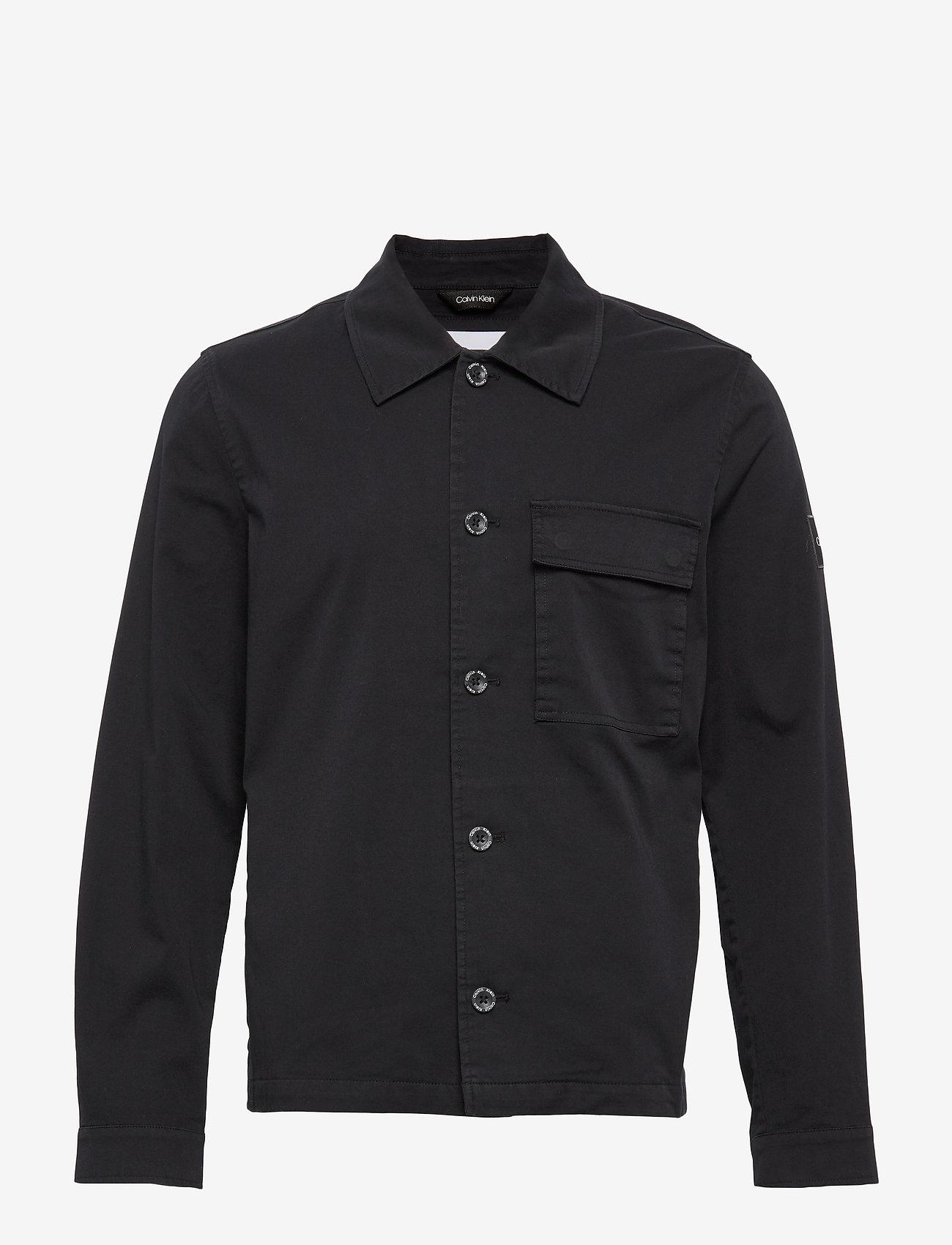 Calvin Klein - GMT WASHED CTN WORKW - light jackets - calvin black - 0