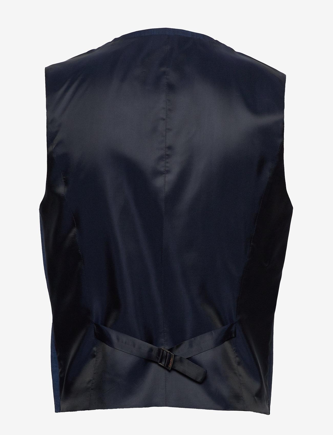 Wool Cotton Tropical Waistcoat (Regal Navy) - Calvin Klein qjQyob