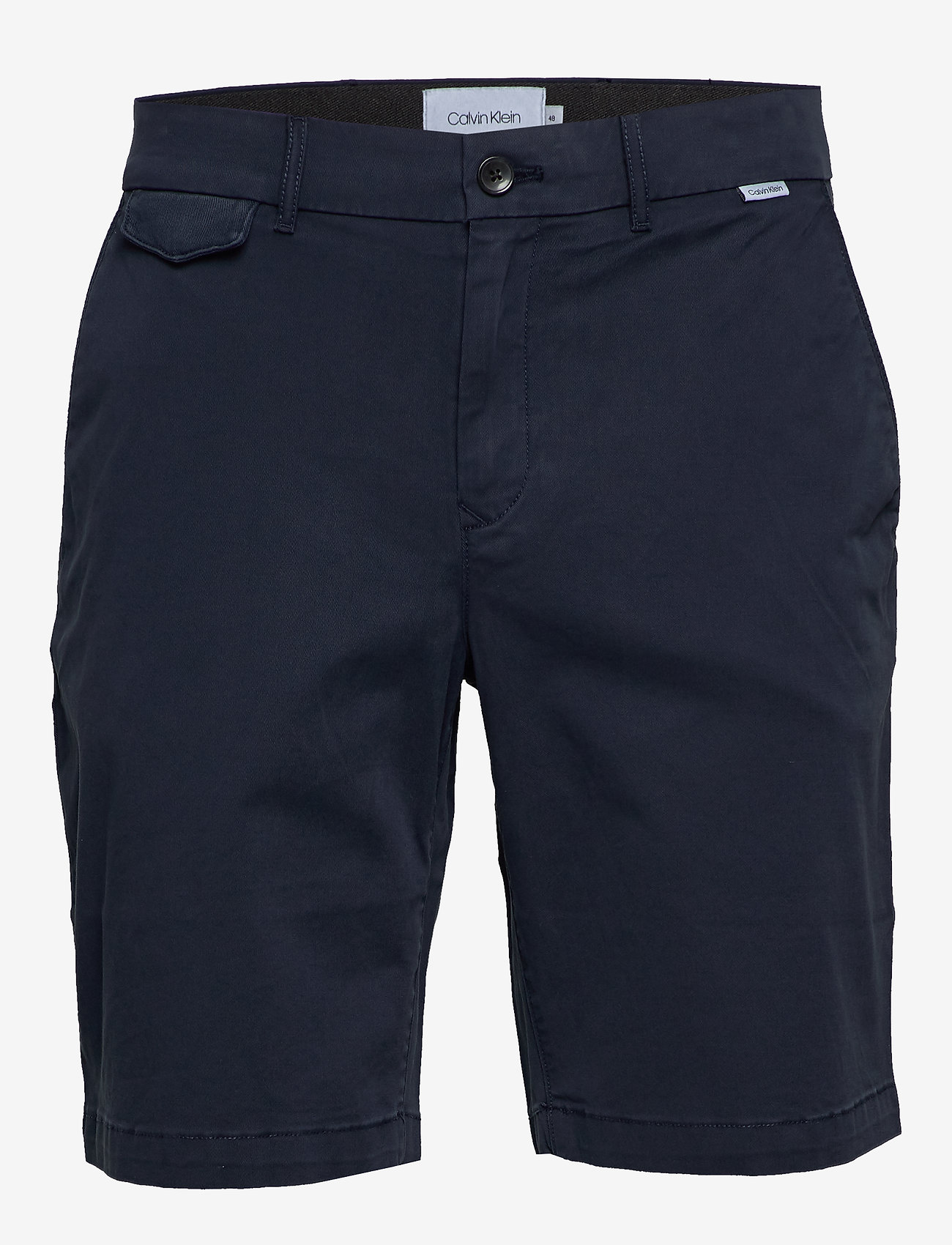 Calvin Klein - SLIM FIT GARMENT DYED SHORTS - tailored shorts - calvin navy - 0