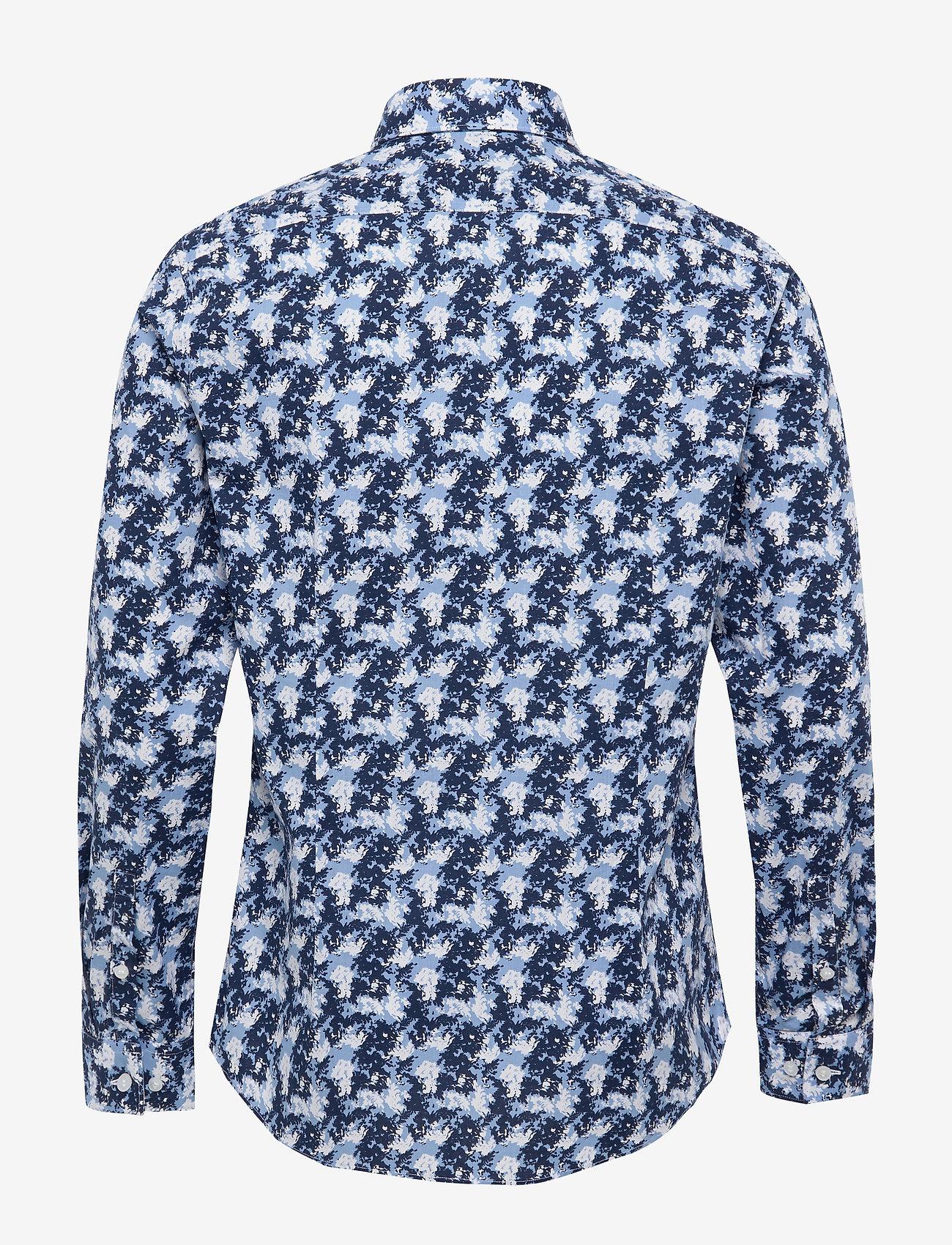Washed Camo Printed Slim Shirt (Blue) - Calvin Klein UmuhwV