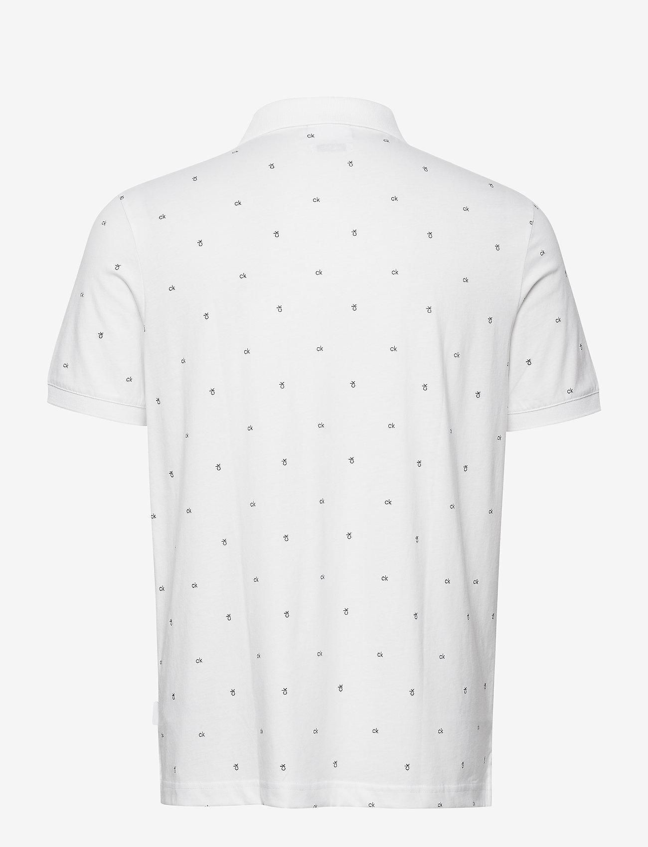 Calvin Klein - LIQUID CK MONOGRAM POLO - korte mouwen - bright white - 1