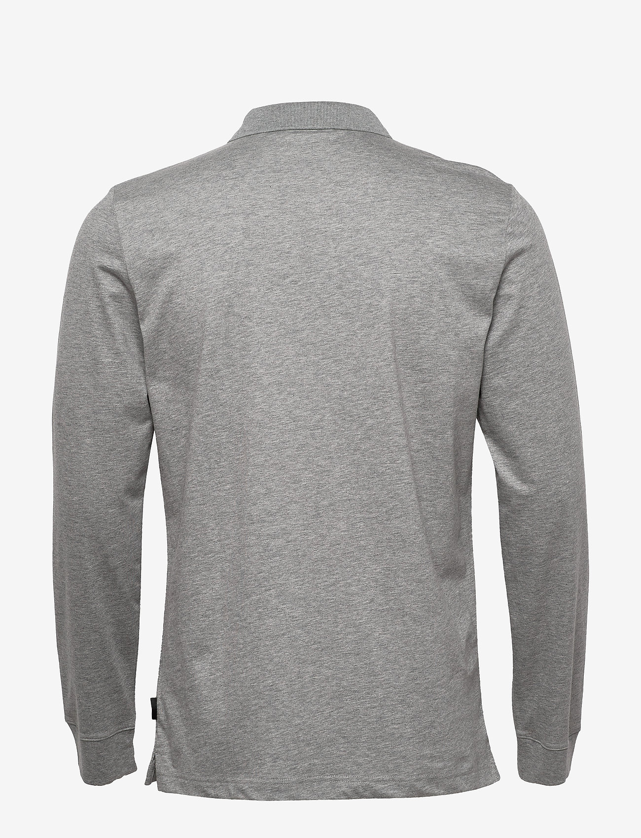 Calvin Klein - LIQUID TOUCH LONG SLEEVE POLO - lange mouwen - mid grey heather - 1