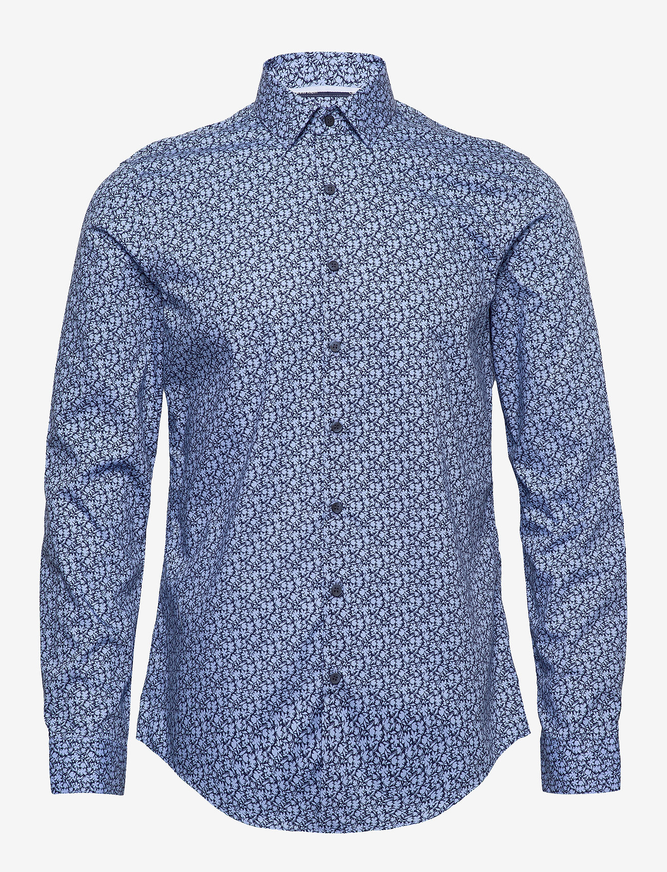 Calvin Klein - FLOWER PRINT SLIM SHIRT - business shirts - blue - 0