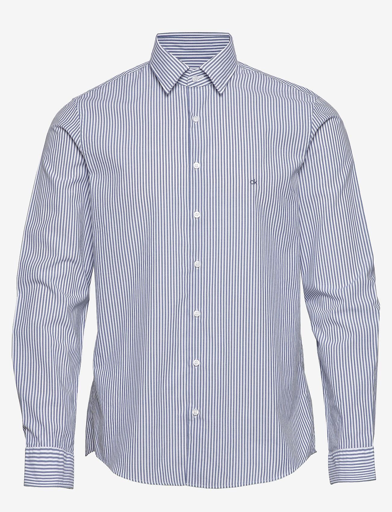 Calvin Klein - WASHED STRIPE SLIM SHIRT - formele overhemden - blue - 0