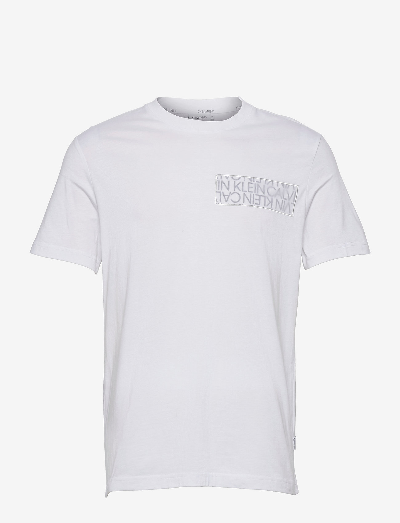 Calvin Klein - LOGO LINES BADGE T-SHIRT - t-shirts à manches courtes - bright white - 0